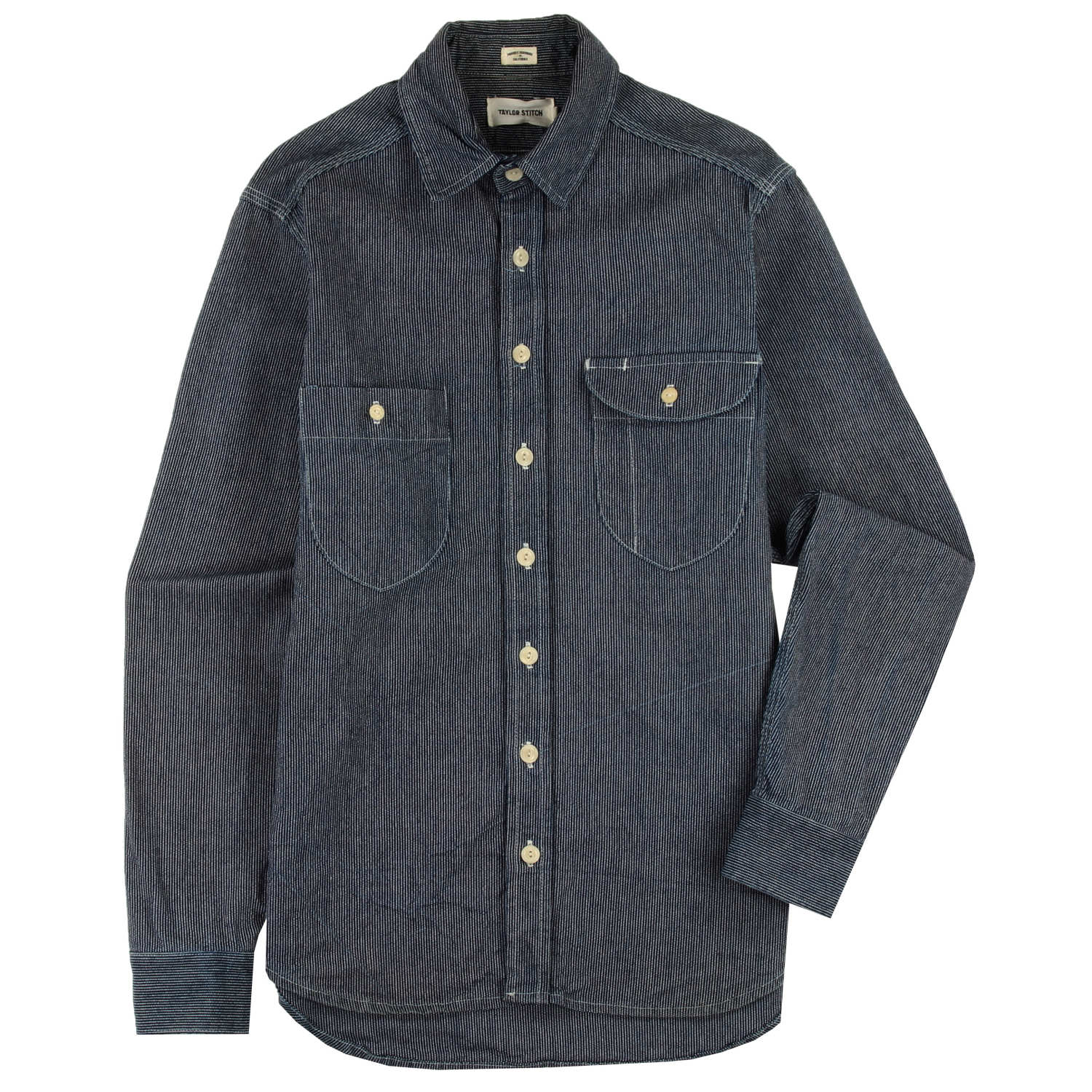 Vintage - The Blue Triple Needle Railroad Stripe Utility Shirt
