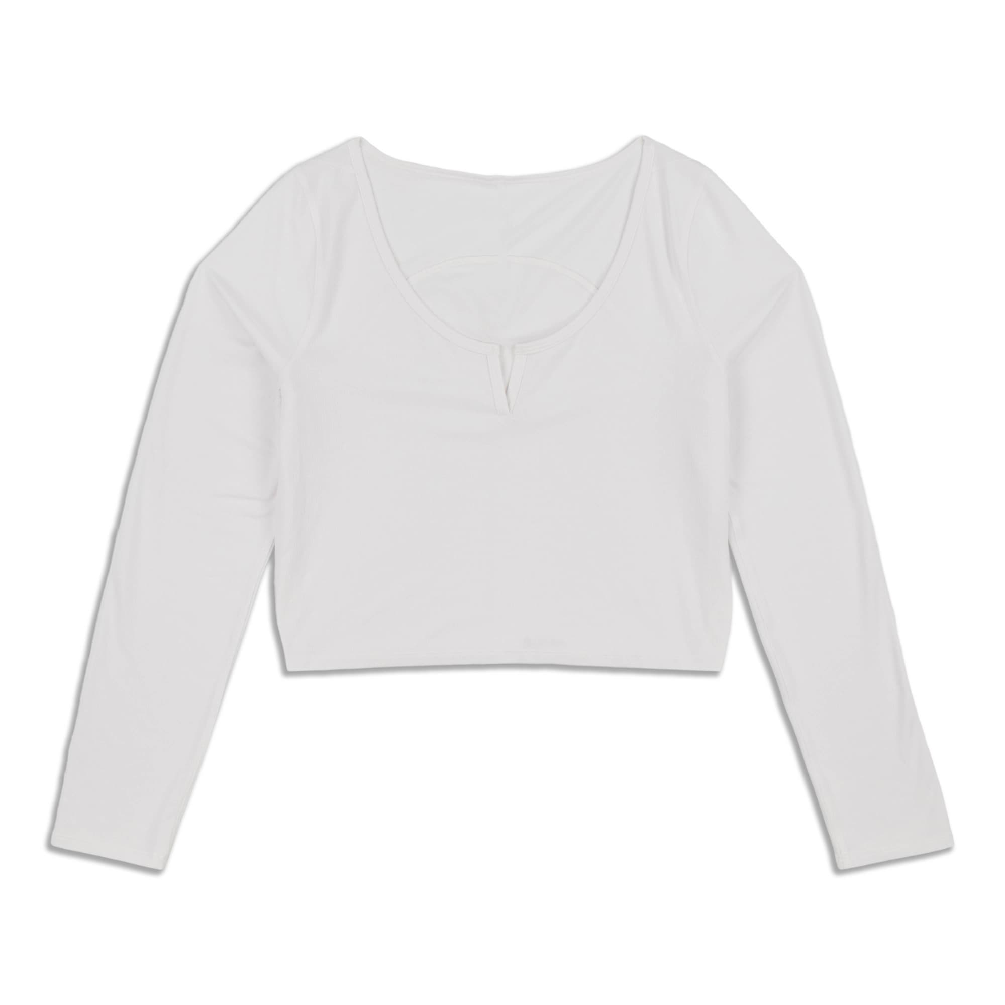 Main product image: Cropped Henley Long Sleeve Shirt - Resale