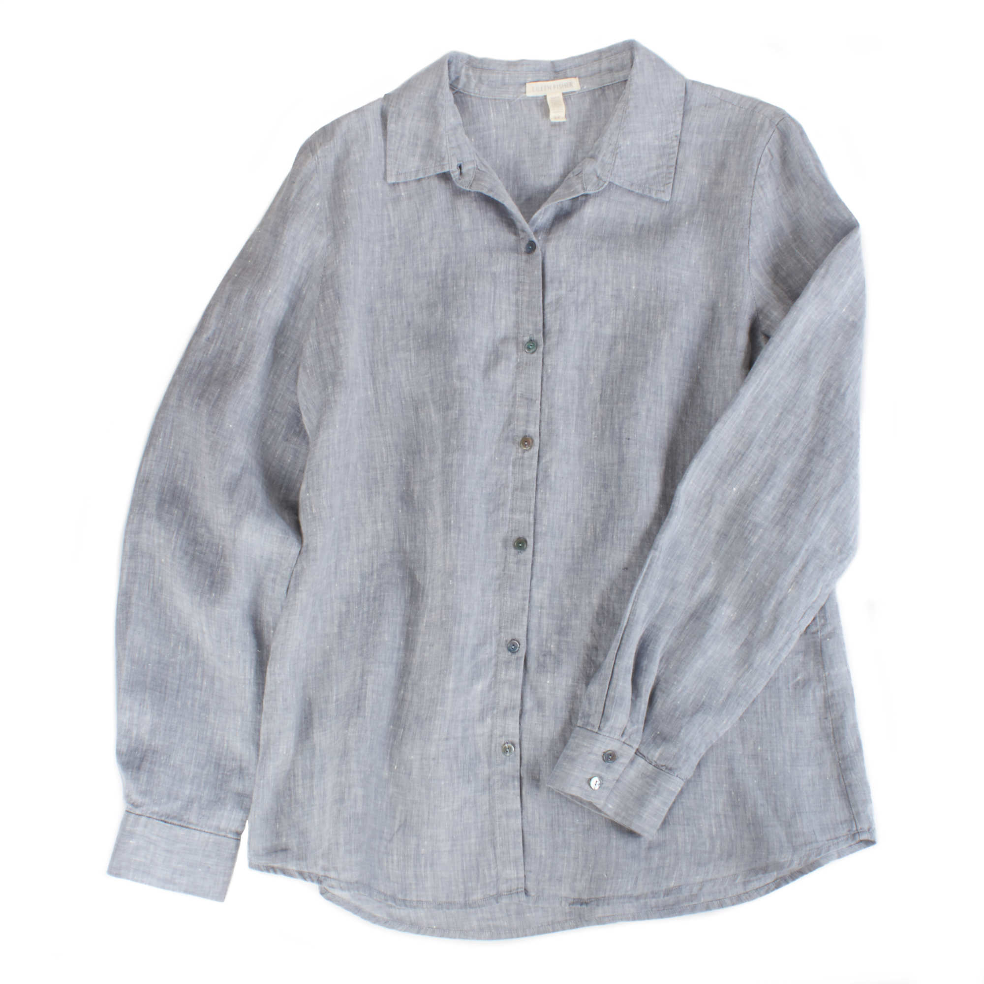 Yarn-dyed Handkerchief Linen Blouse