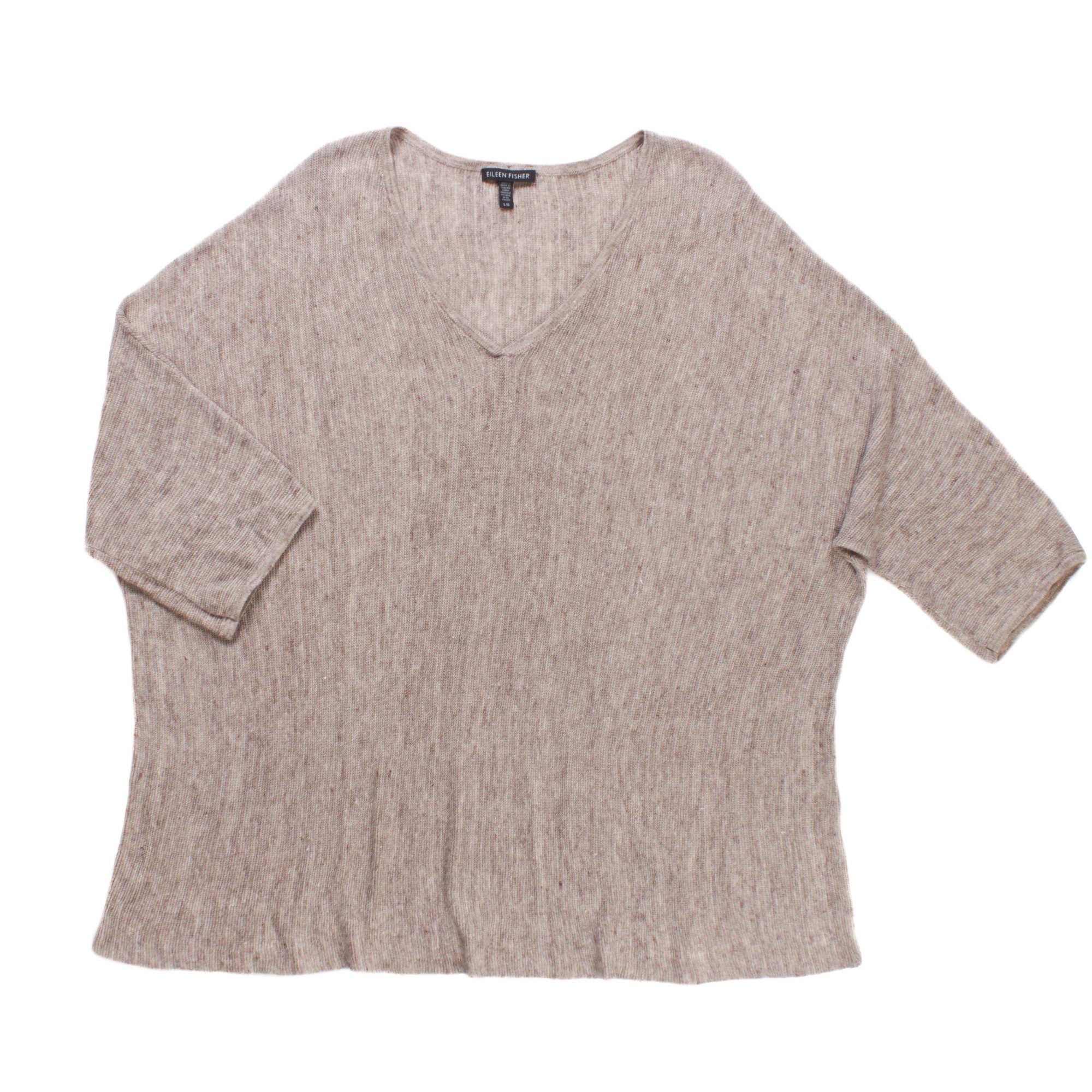 Airy Linen Melange Links Pullover