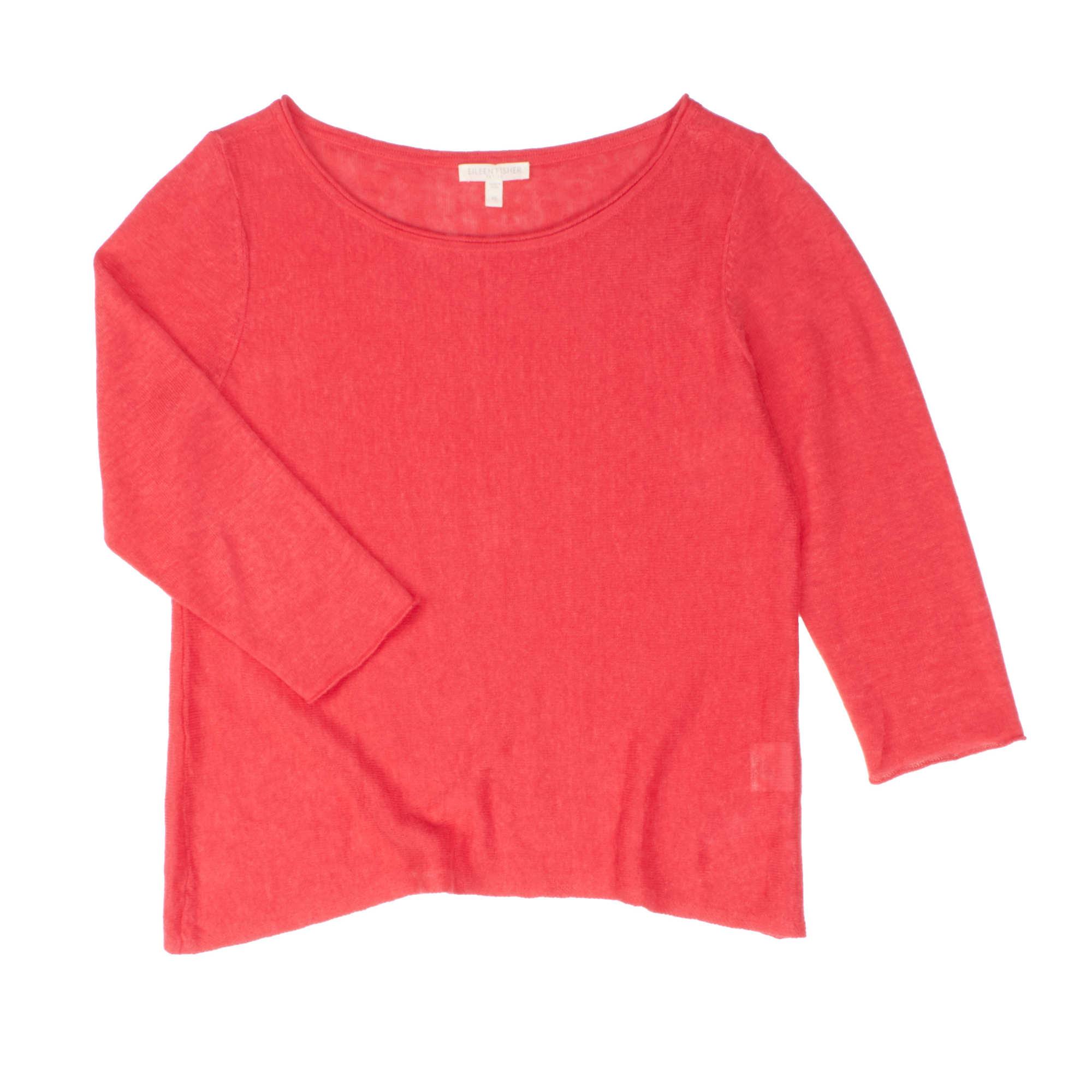Lightweight Organic Linen Knit Pullover
