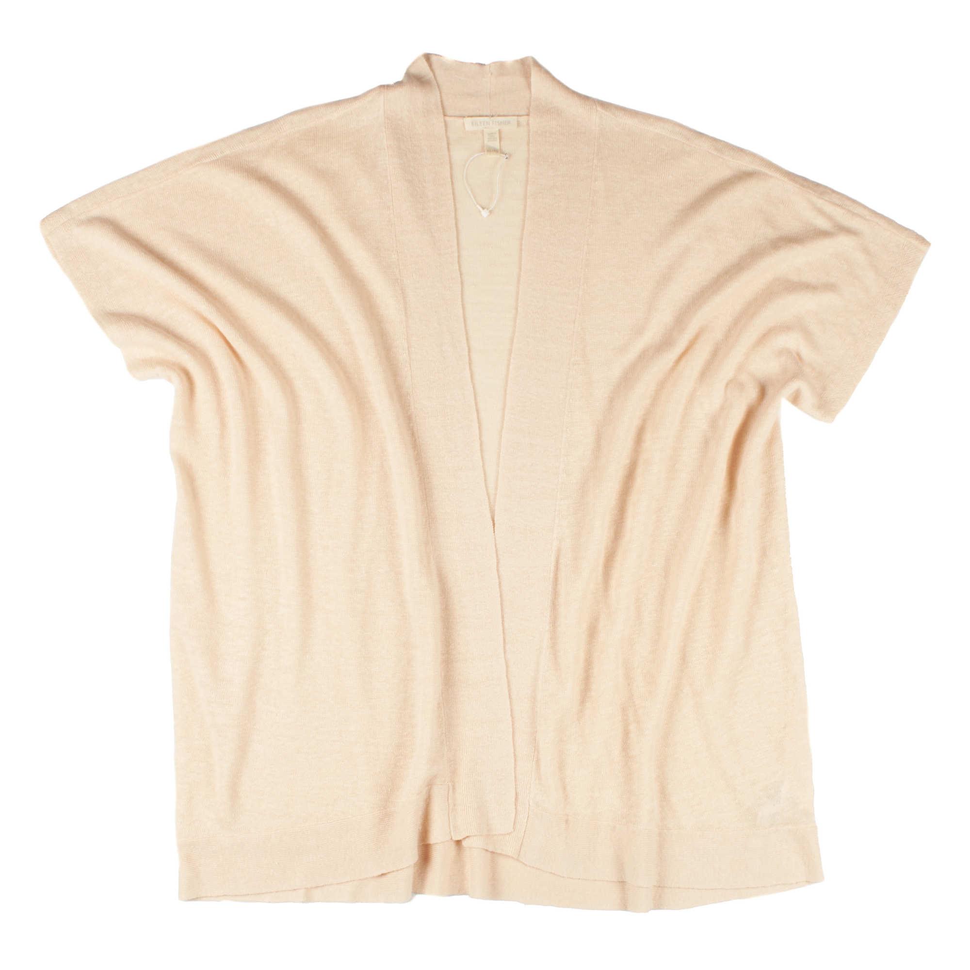 Lightweight Organic Linen Knit Cardigan