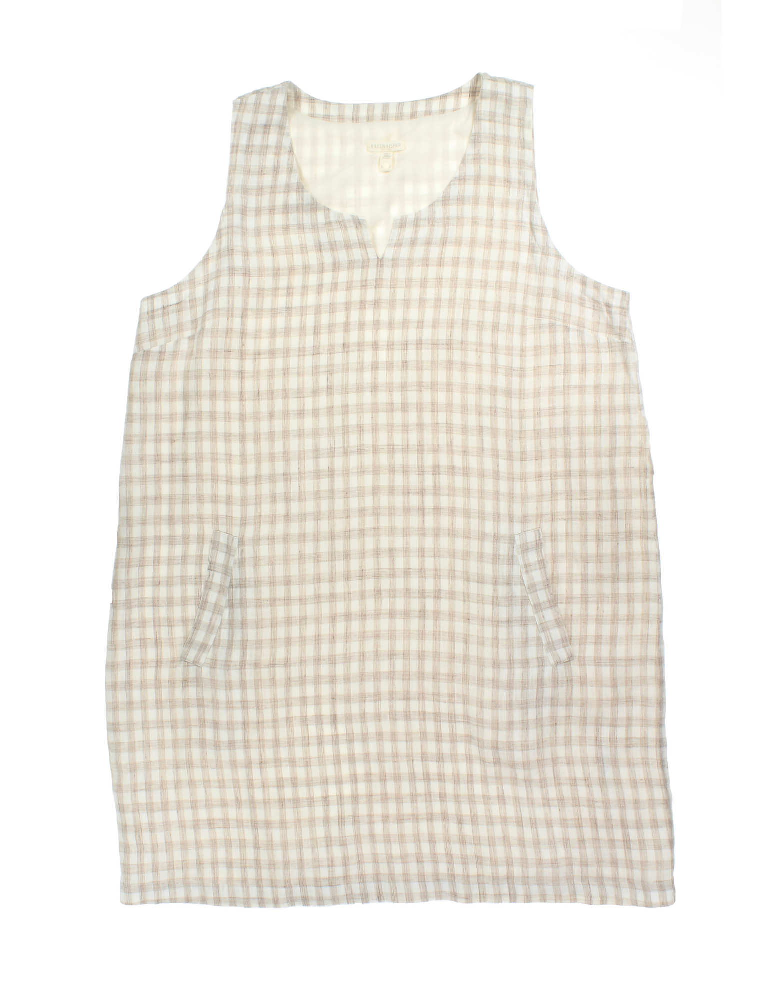 Organic Linen Gingham Slub Dress