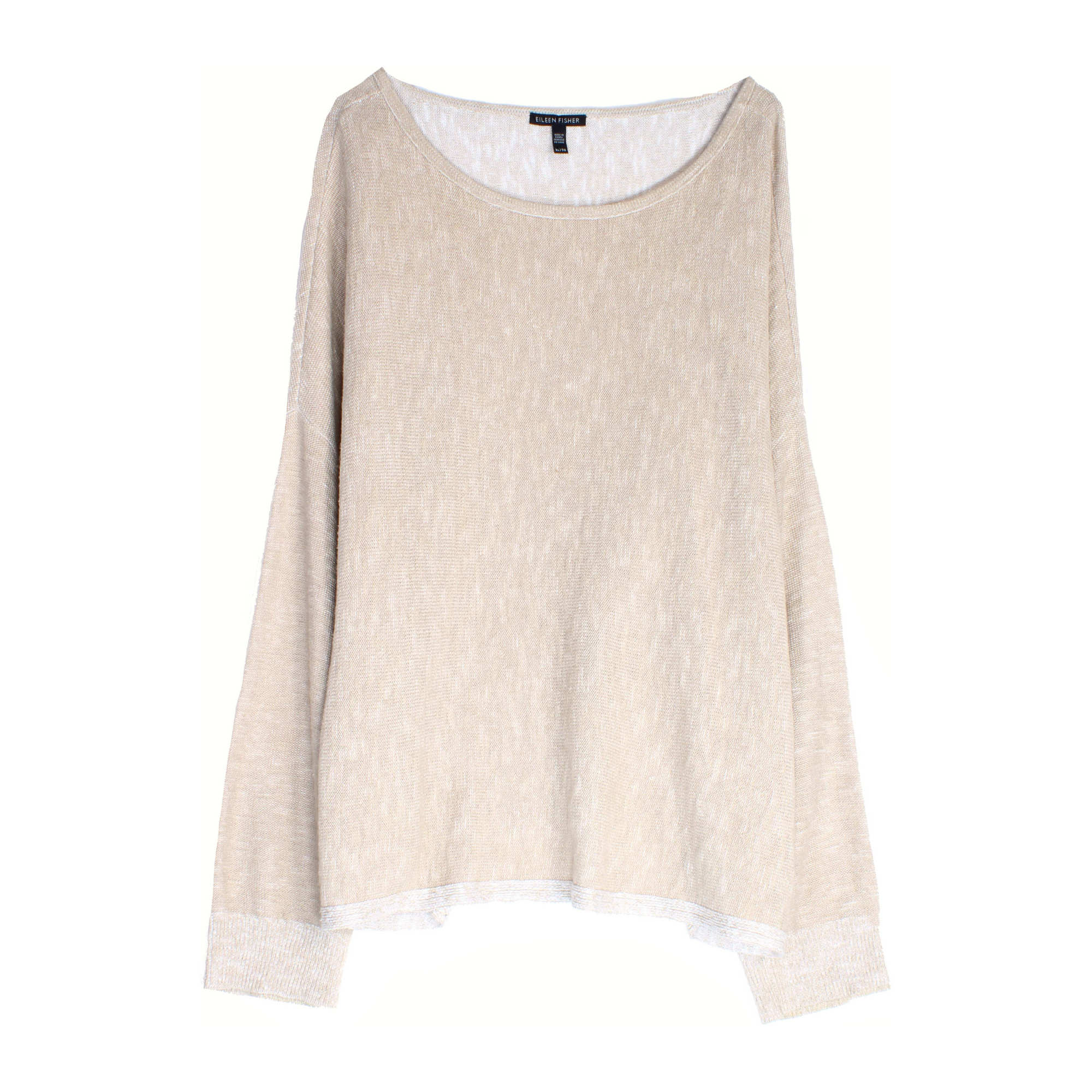 Plaited Organic Linen Cotton Slub Pullover