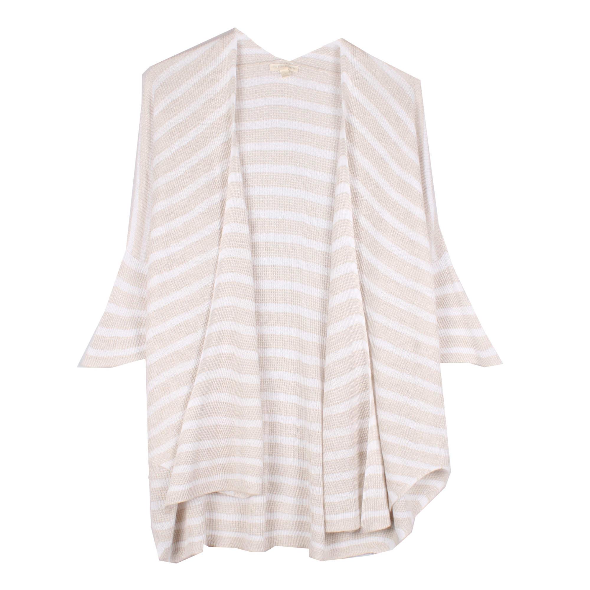 Organic Linen Knit Stripe Cardigan