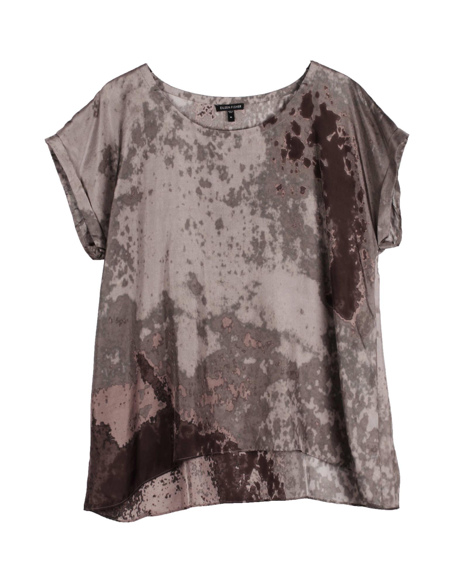 Sea Spray Printed Silk Blouse