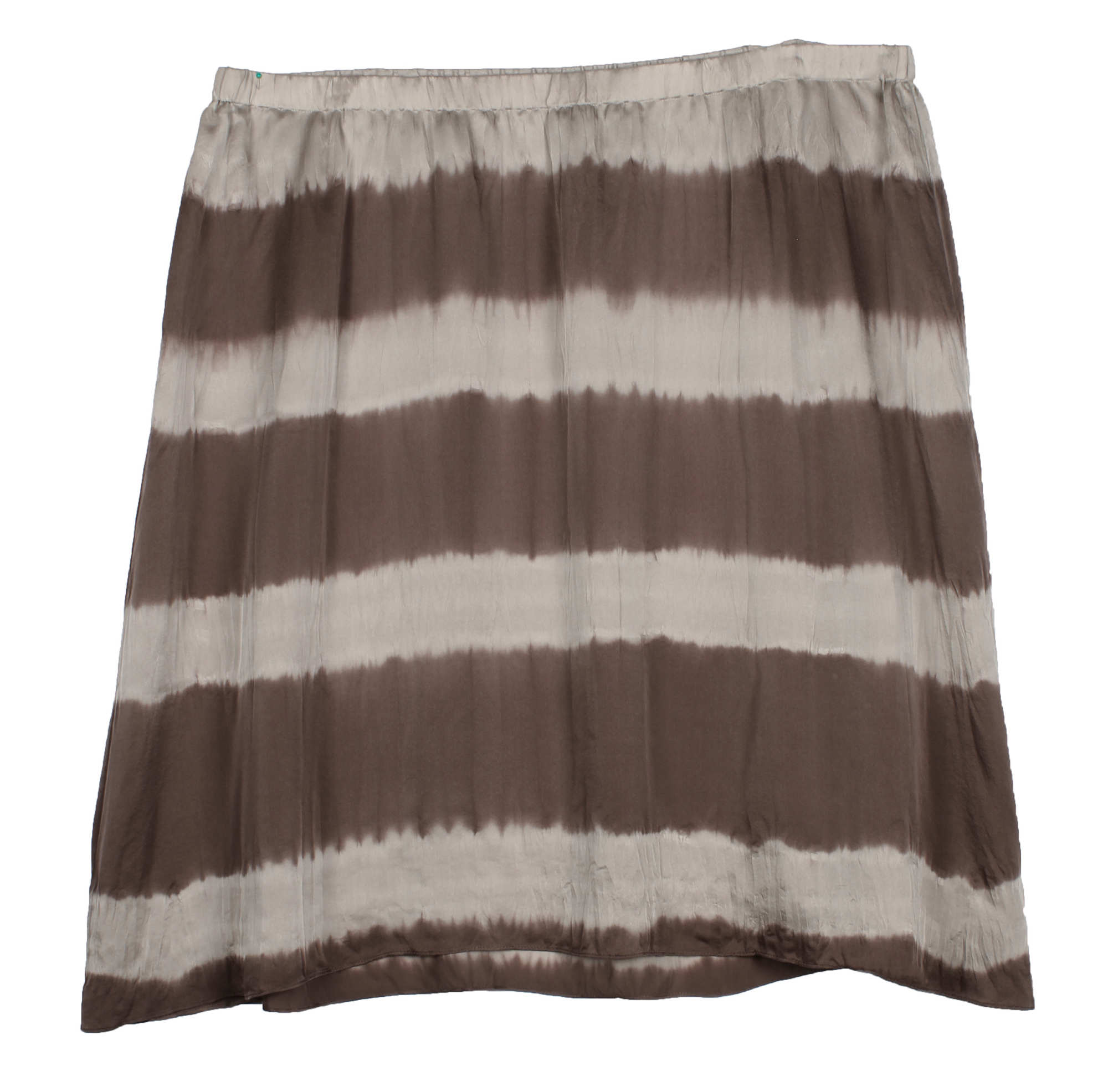 Tie Dye Stripe Silk Skirt