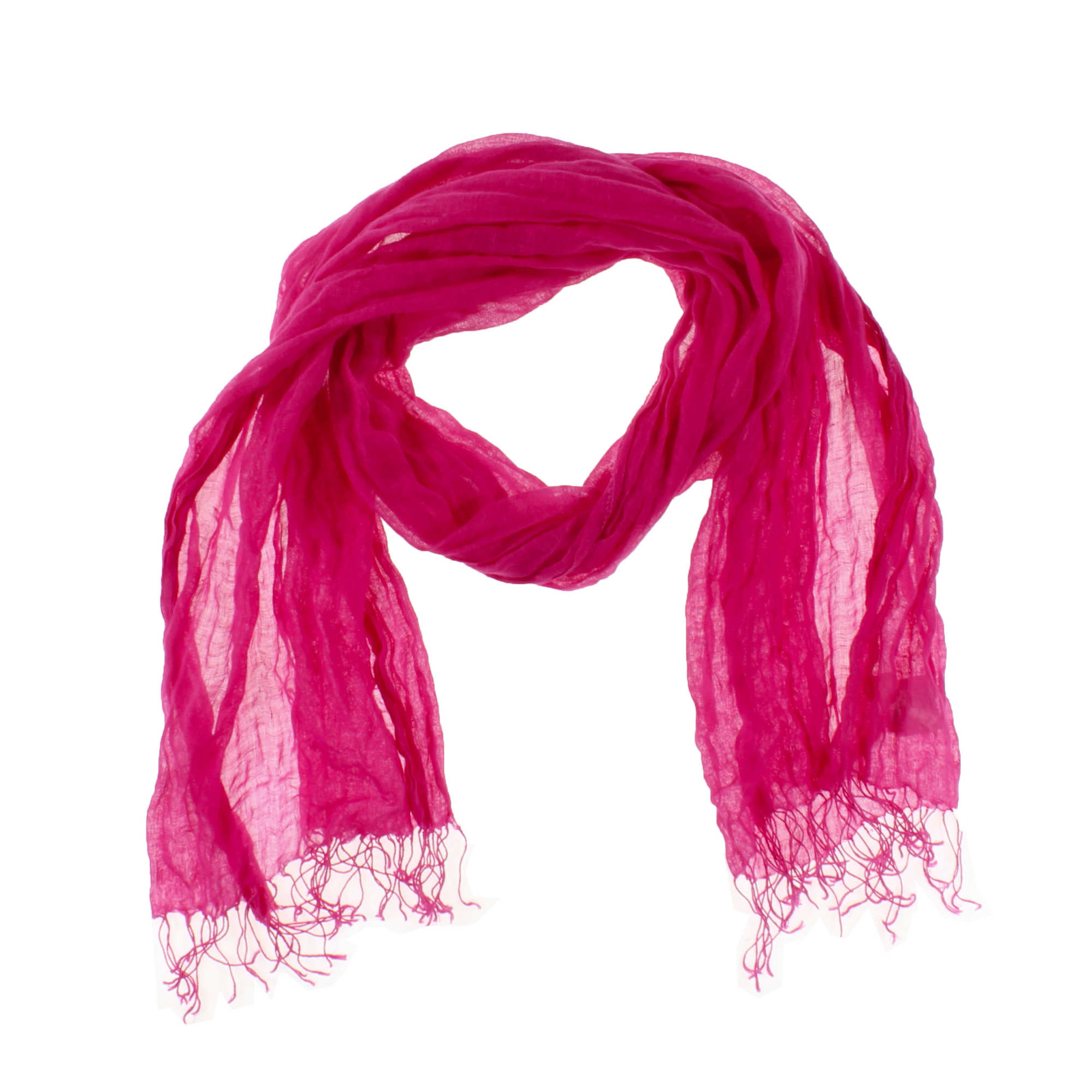 Airy Washed Linen Scarf
