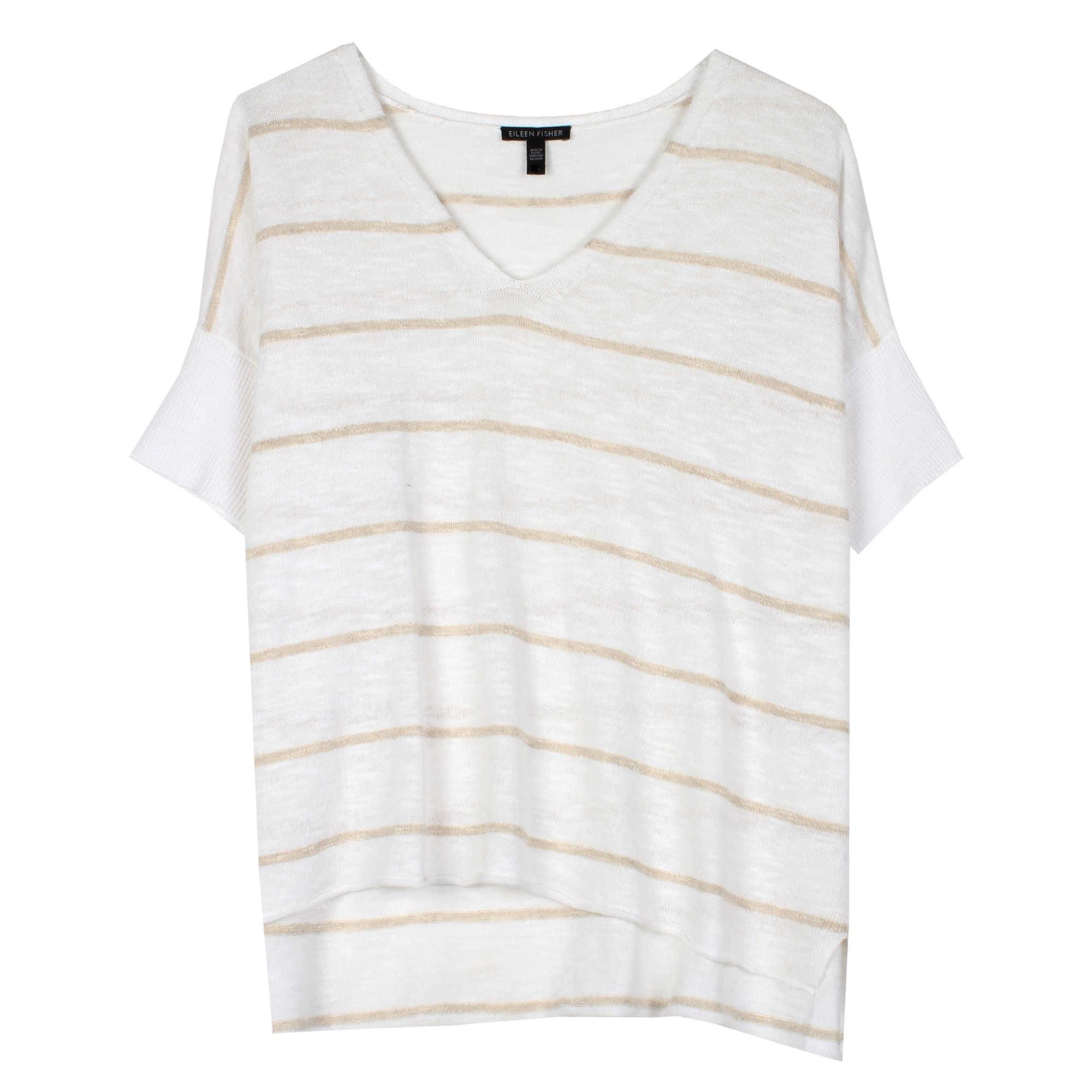 Organic Linen Cotton Slub Stripe Pullover