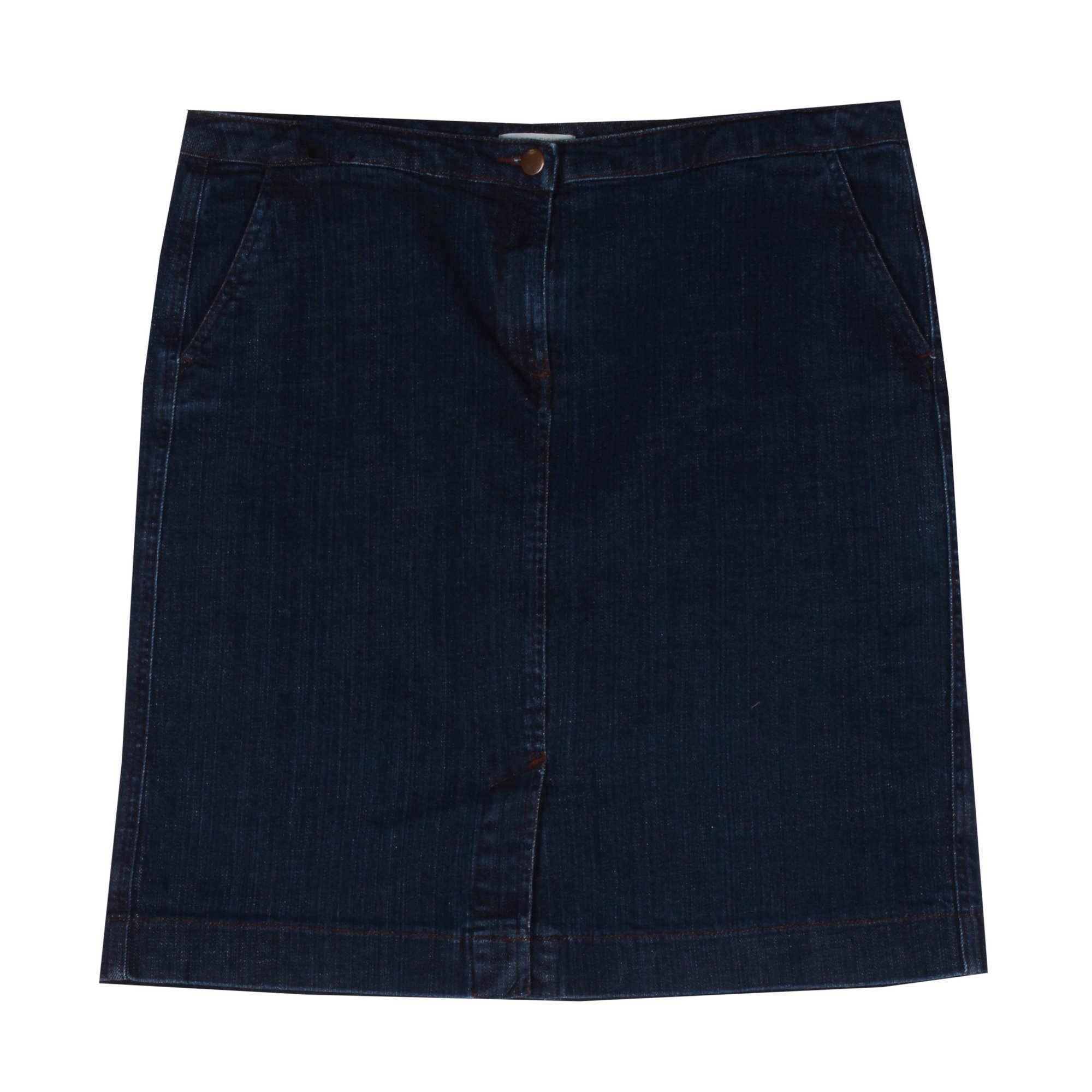Organic Cotton Stretch Denim Skirt