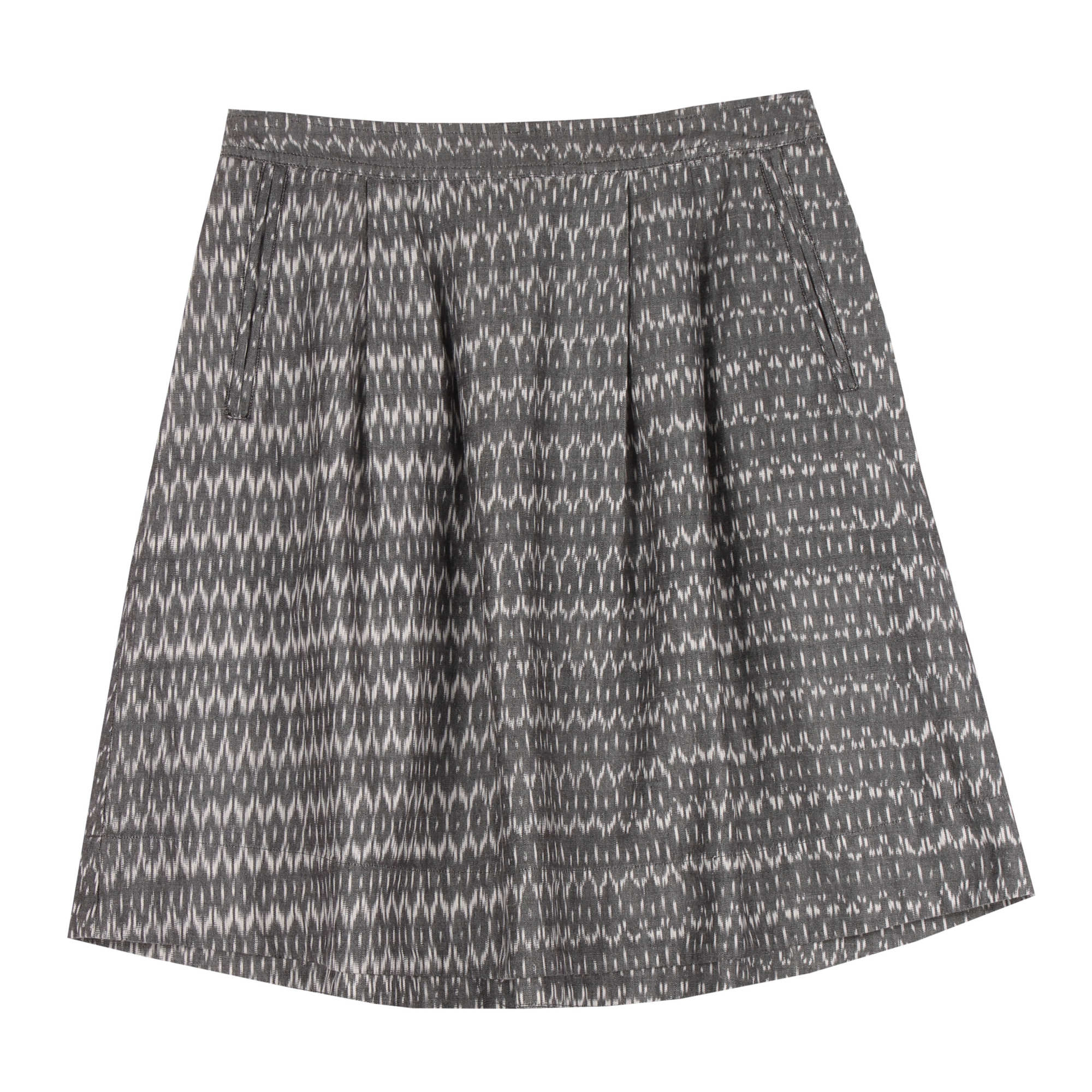 Organic Cotton Aerial Ikat Skirt
