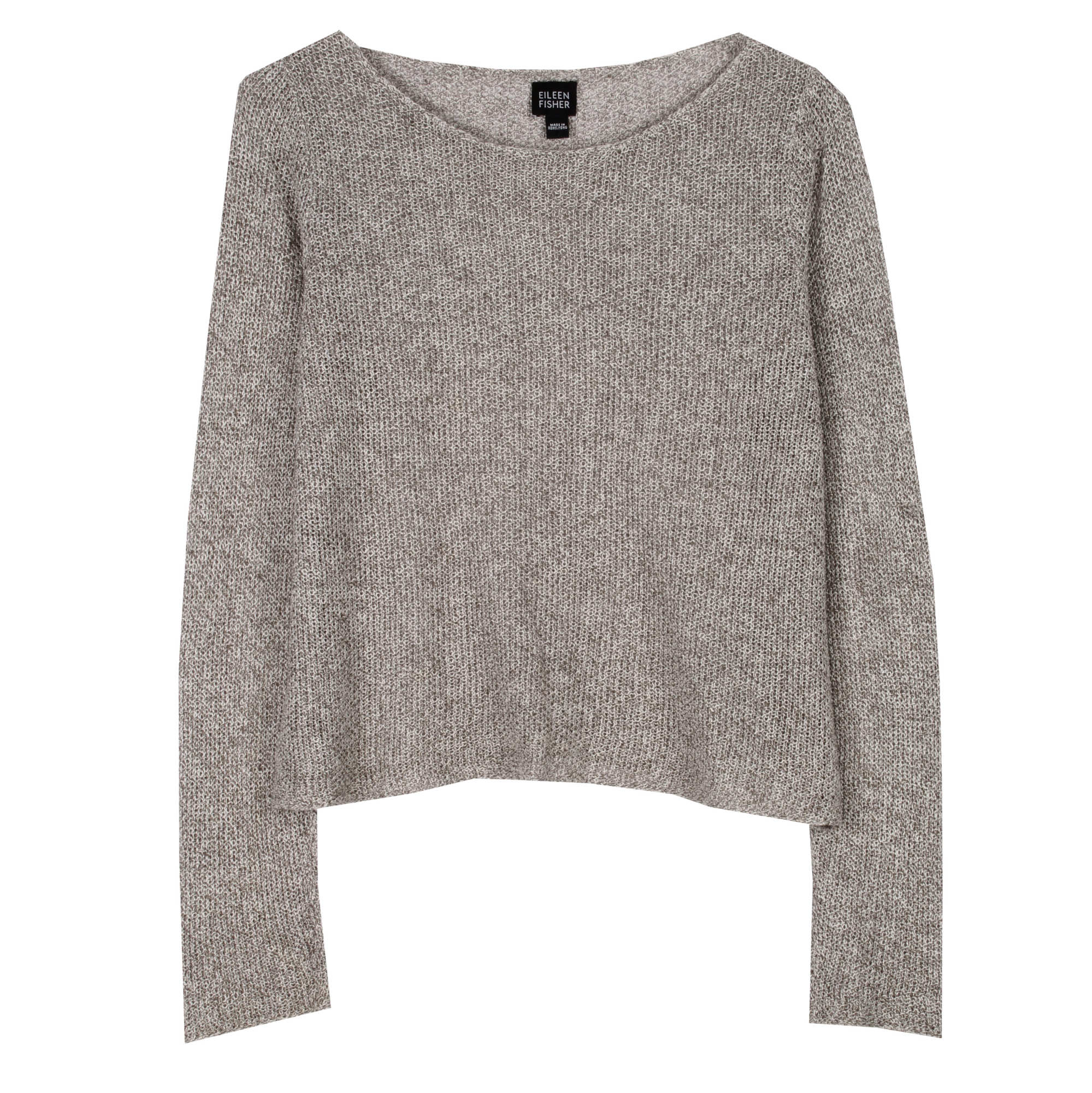 Multi-Tonal Linen Net Pullover