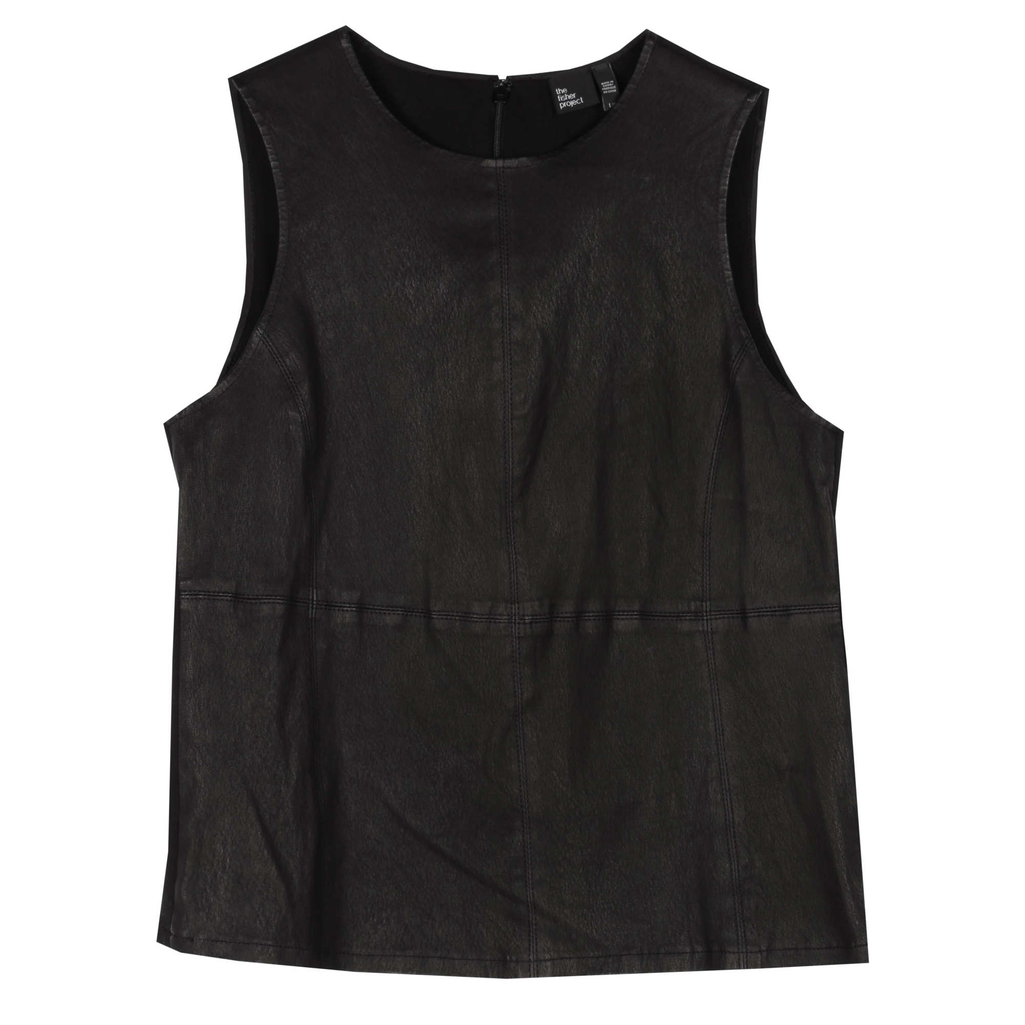 Stretch Leather w/Ponte Vest