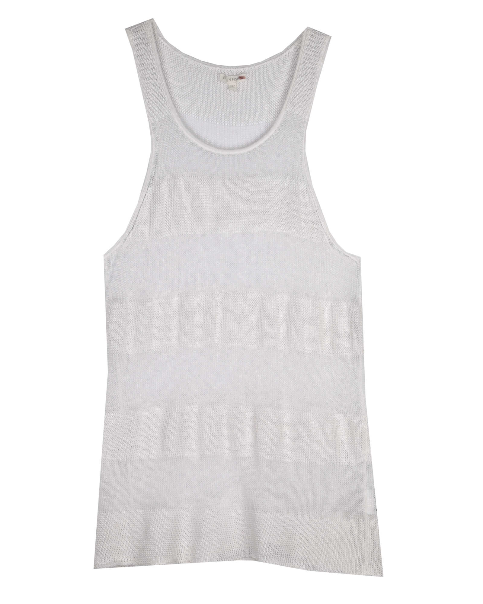 Fine Gauge Linen Shadow Stripe Tank