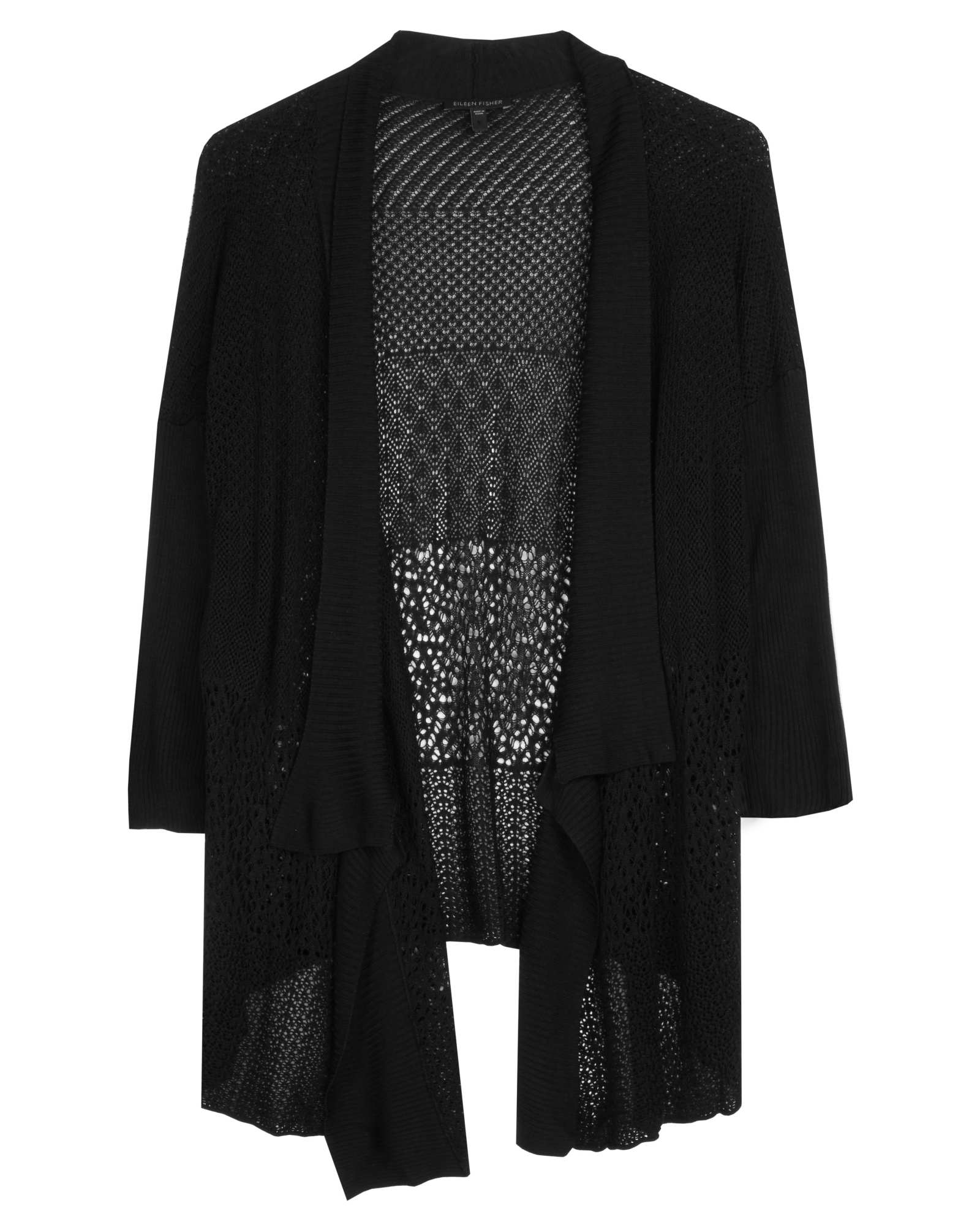Silk Sheen Lace Cardigan