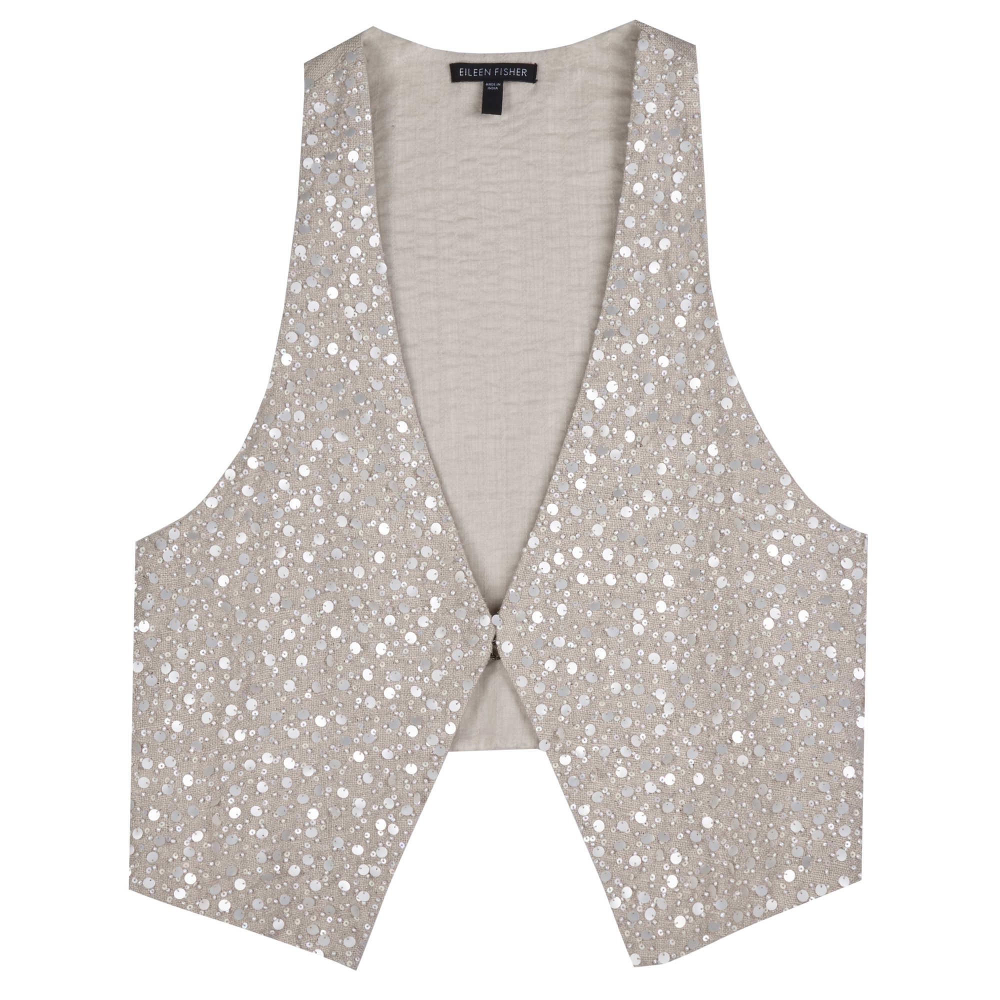Organic Linen Stripe Vest