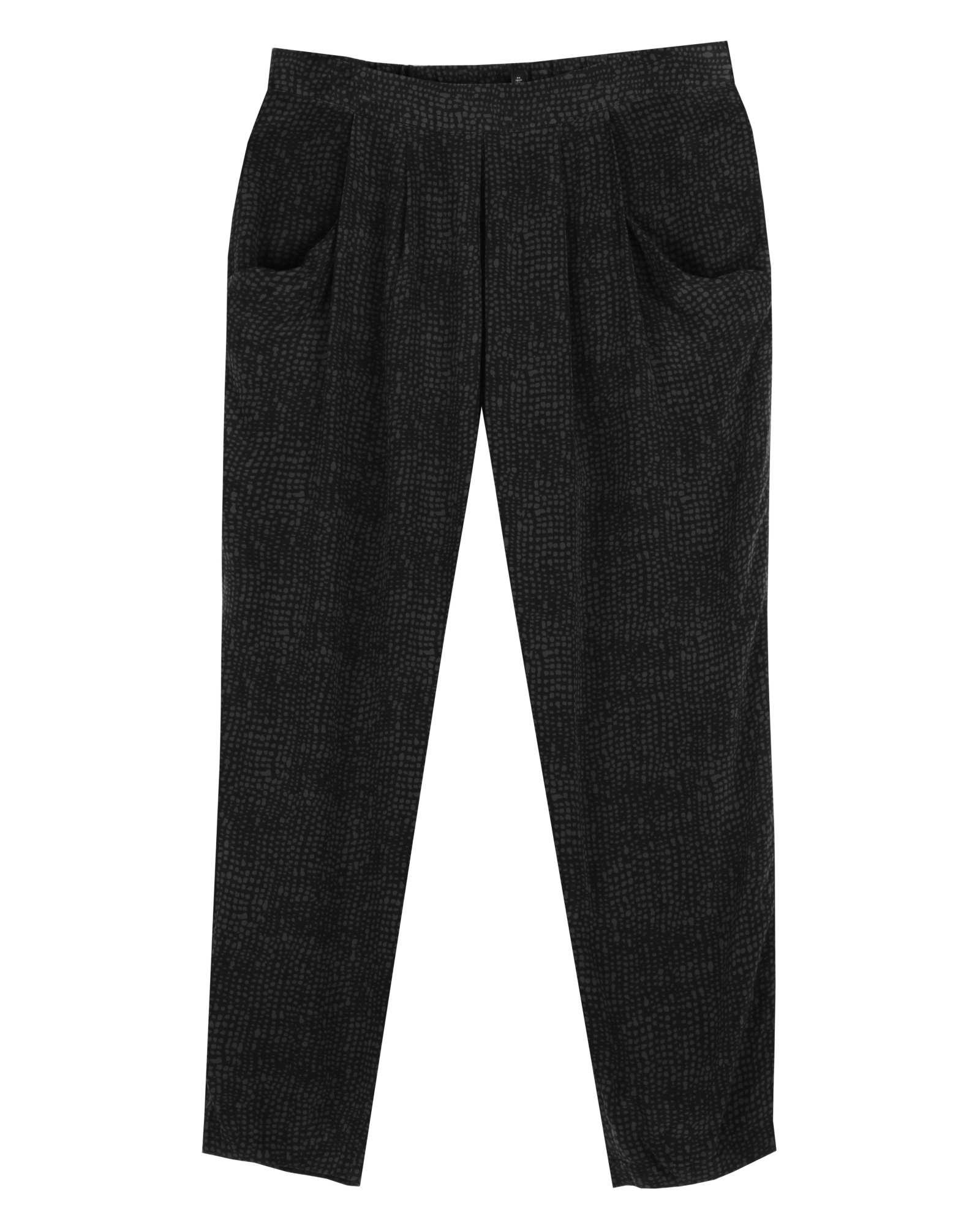 Multi-Tonal Linen Lace Pant