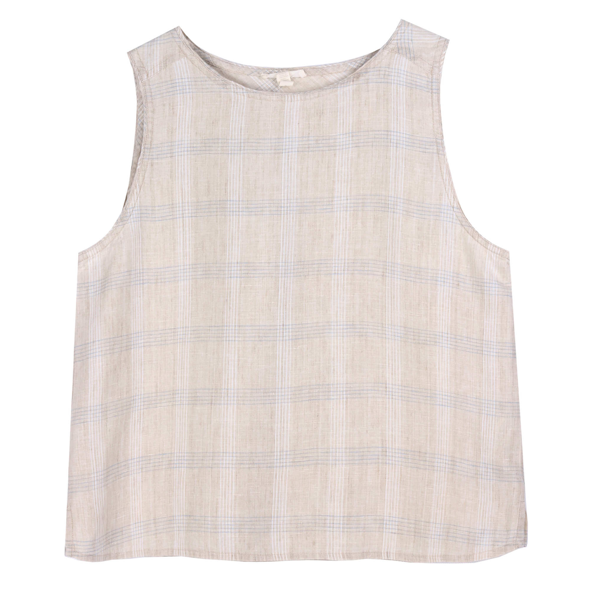 Catalan Organic Linen Plaid Tank