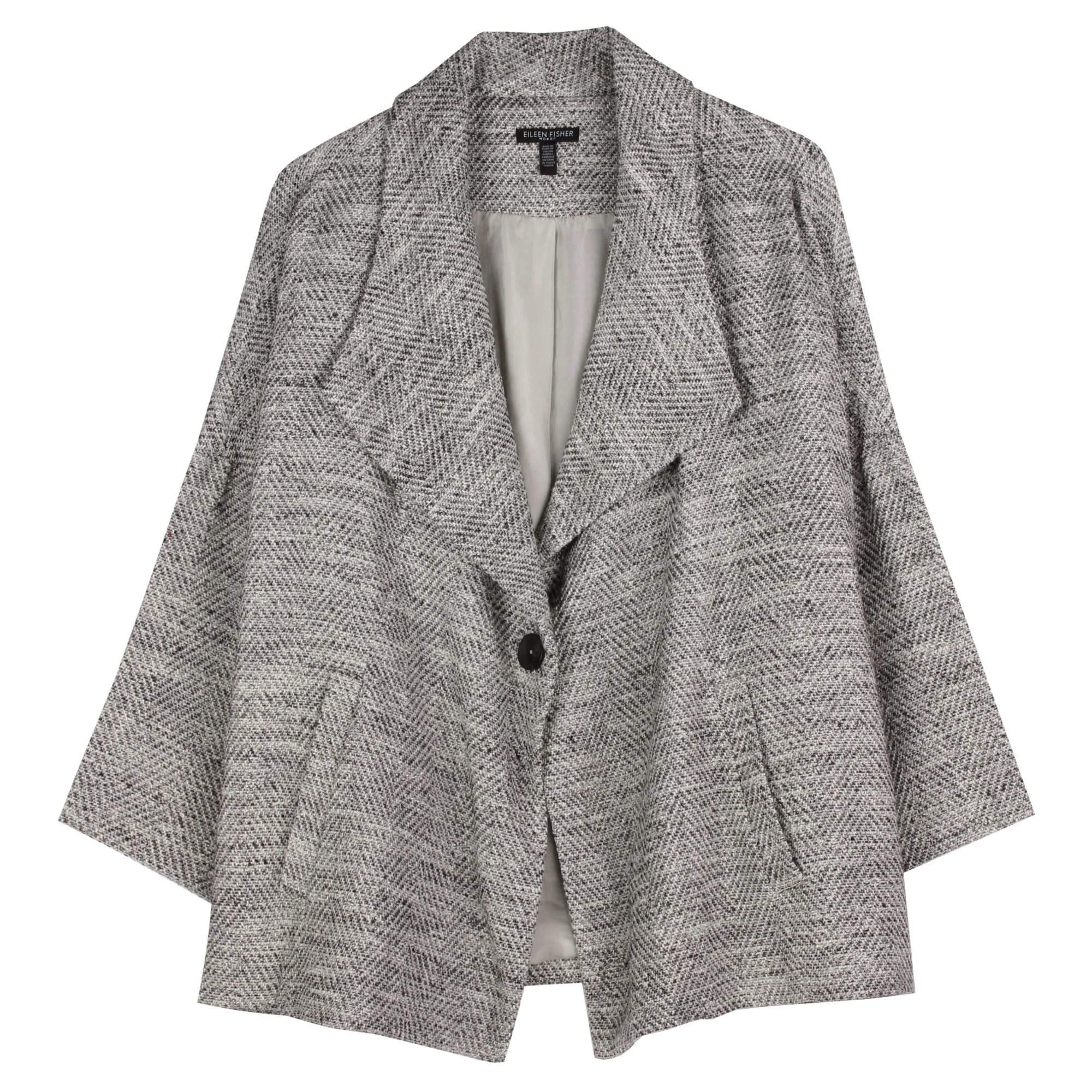 Crushed Metallic Voile Jacket