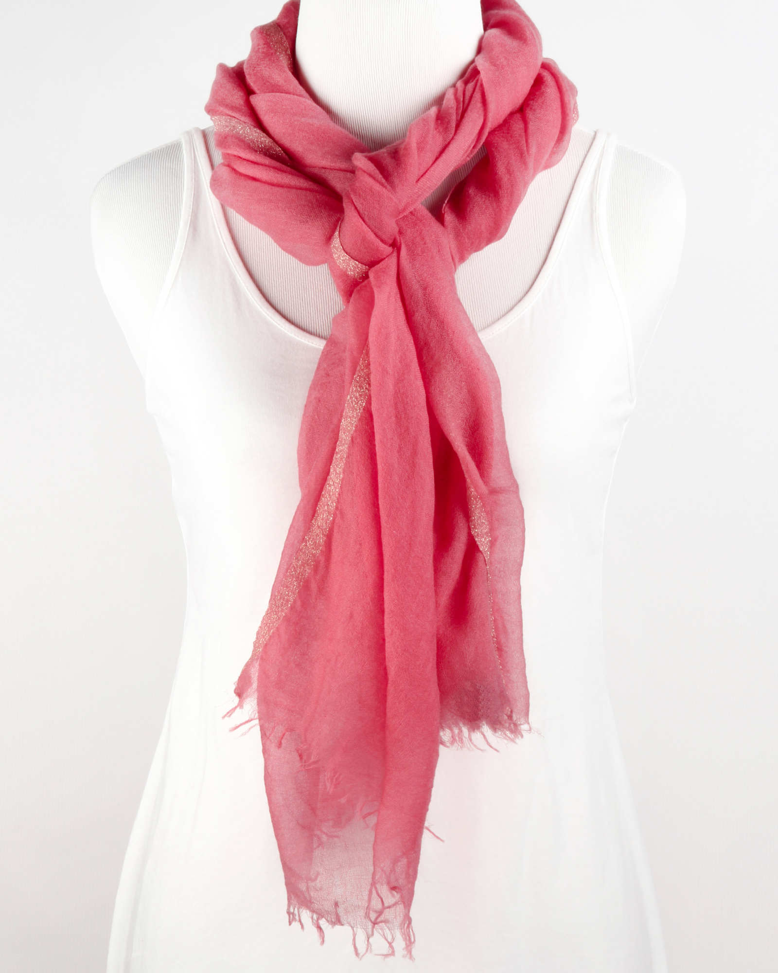 Gauzy Cashmere with Sparkle Edging Scarf
