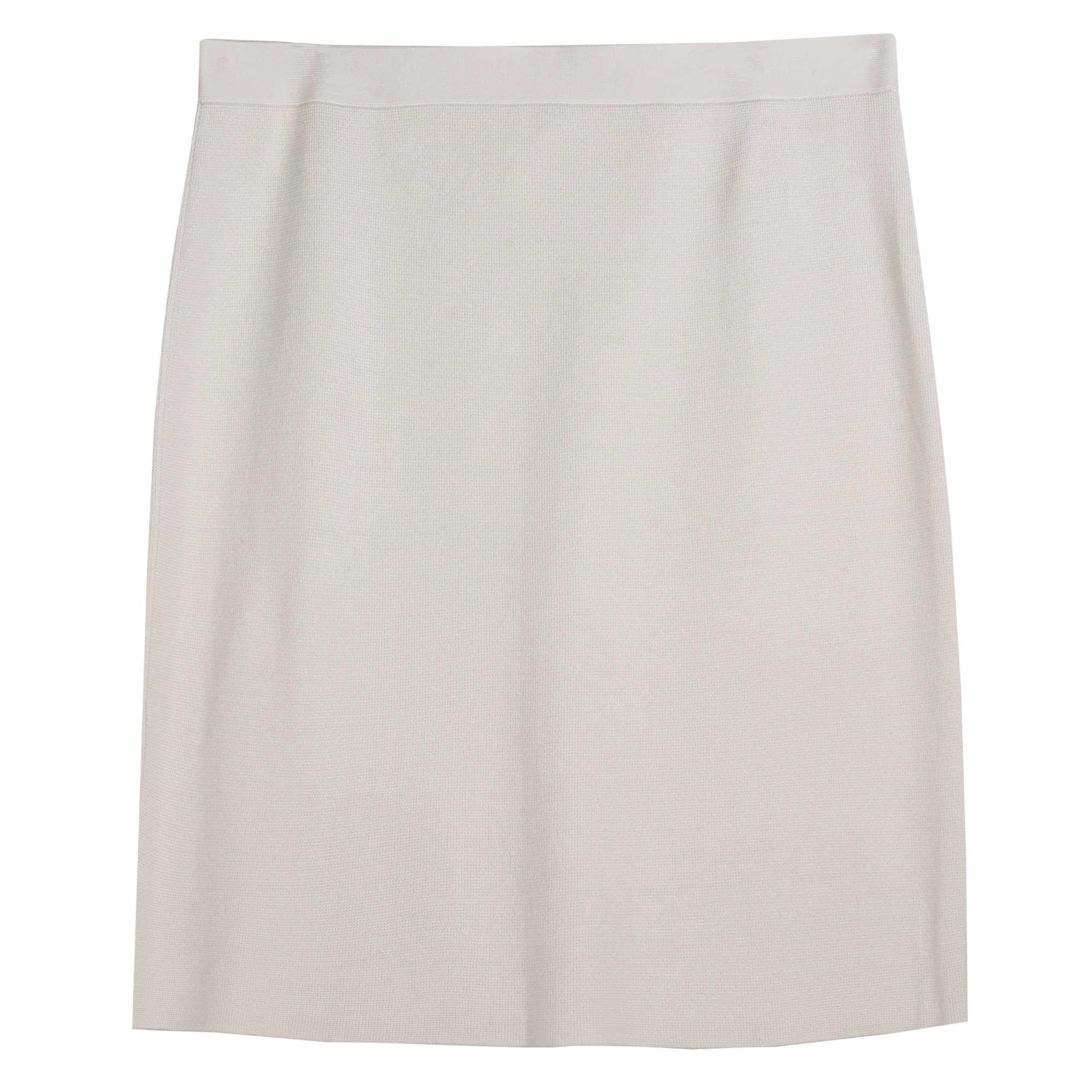 Silk Organic Cotton Interlock Skirt