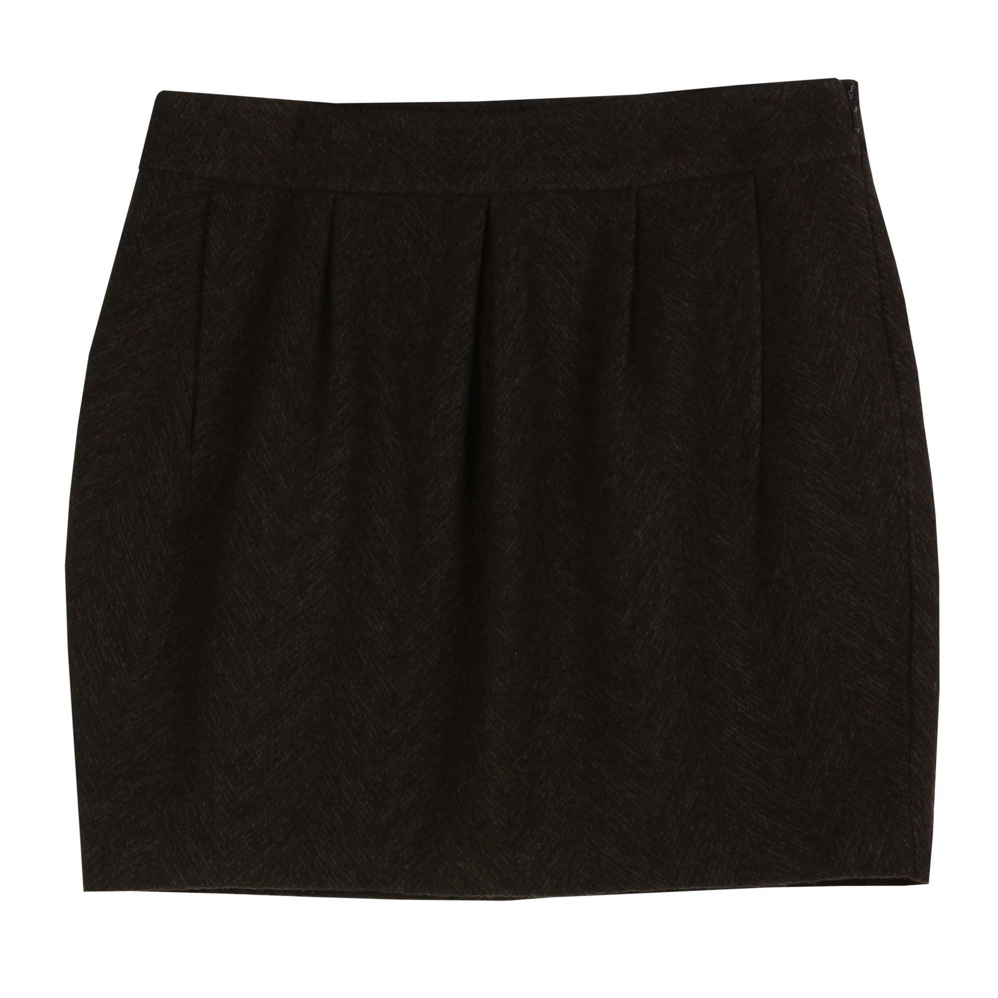 Herringbone Distorted Skirt