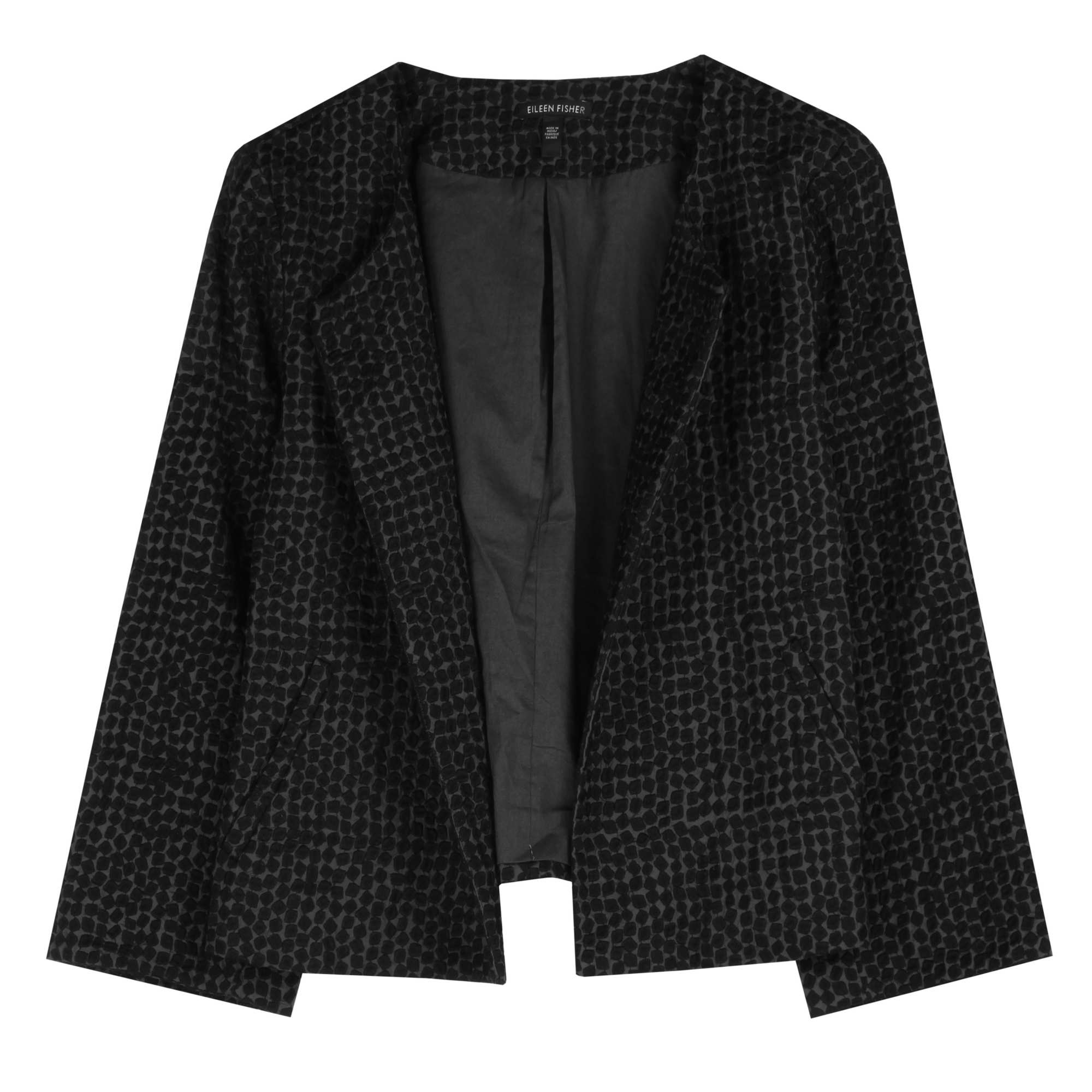 Embroidered Cotton Squares Jacket