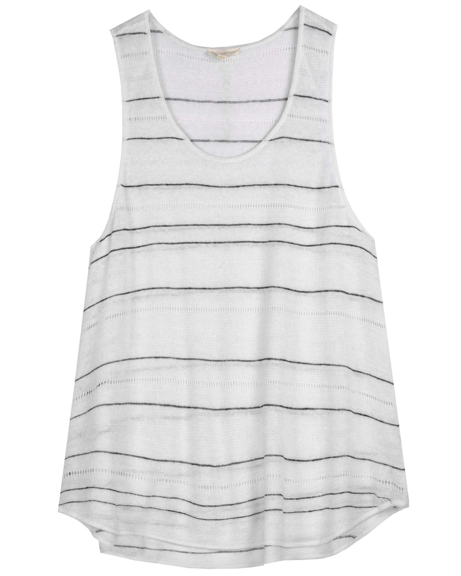Lightweight Organic Linen Drop Need Stripe Tunic