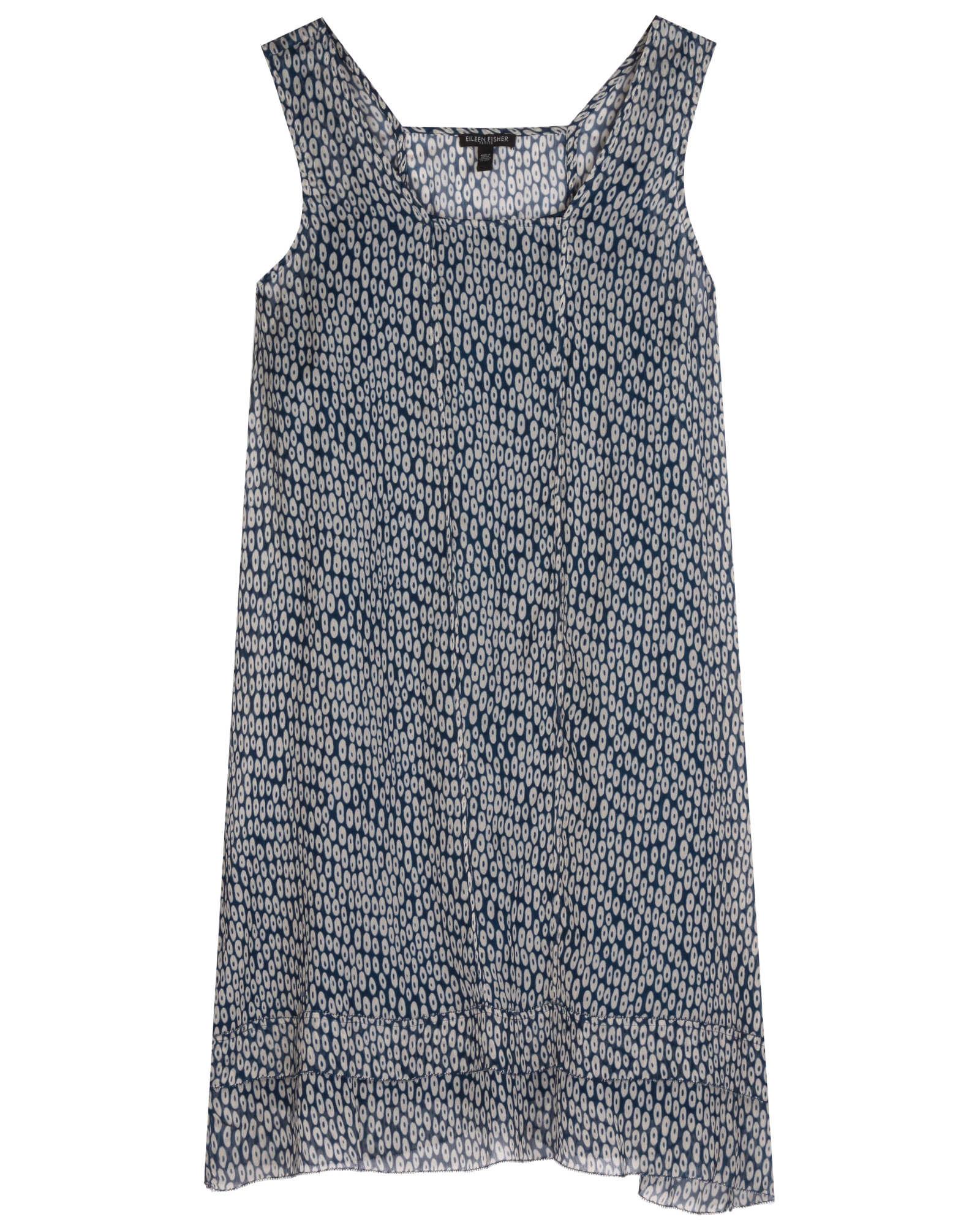 Ellipsis Printed Crinkle Silk Dress