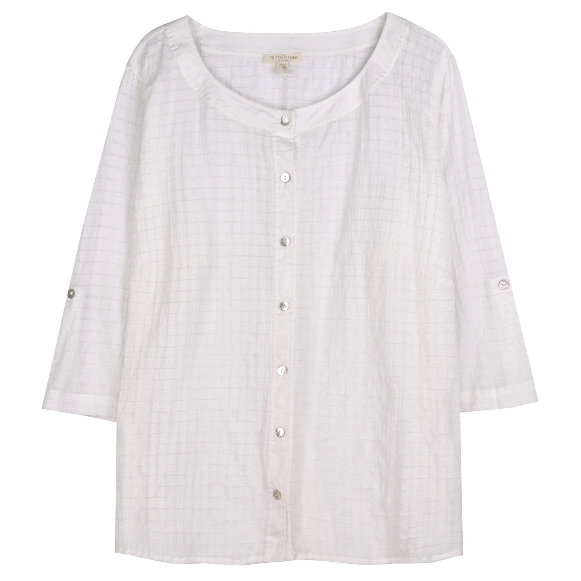 Organic Cotton Voile Box Blouse