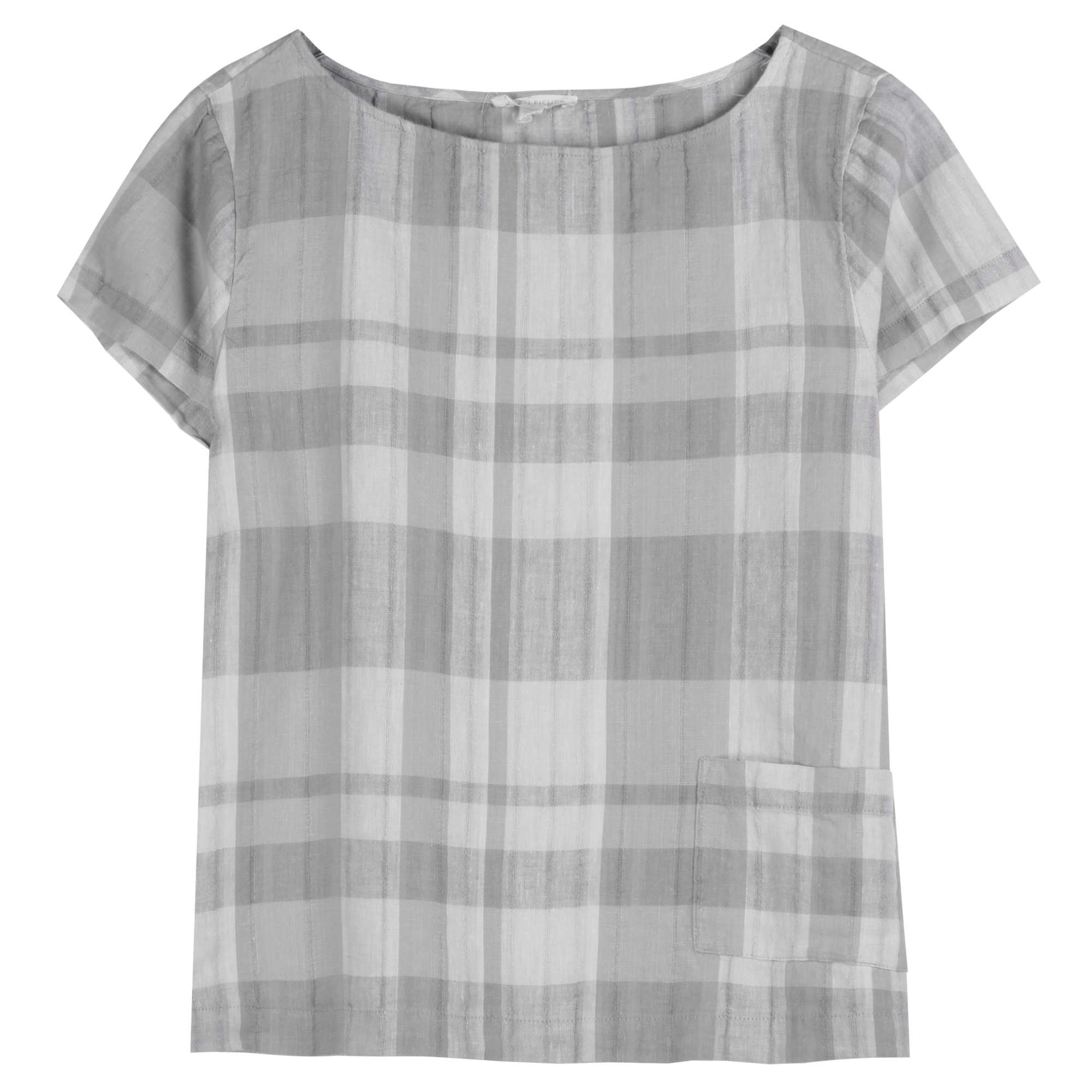 Airy Organic Linen Cotton Plaid Tank