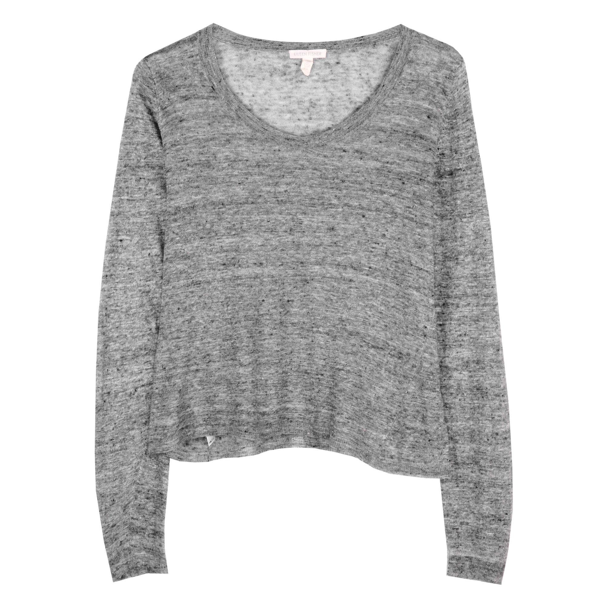 Linen Melange Jersey Pullover