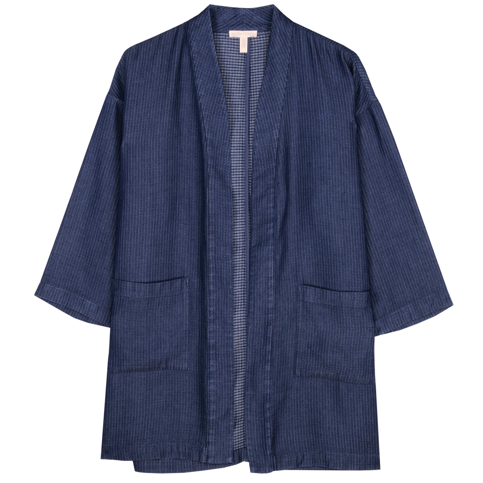 Drapey Tencel Grid Jacket