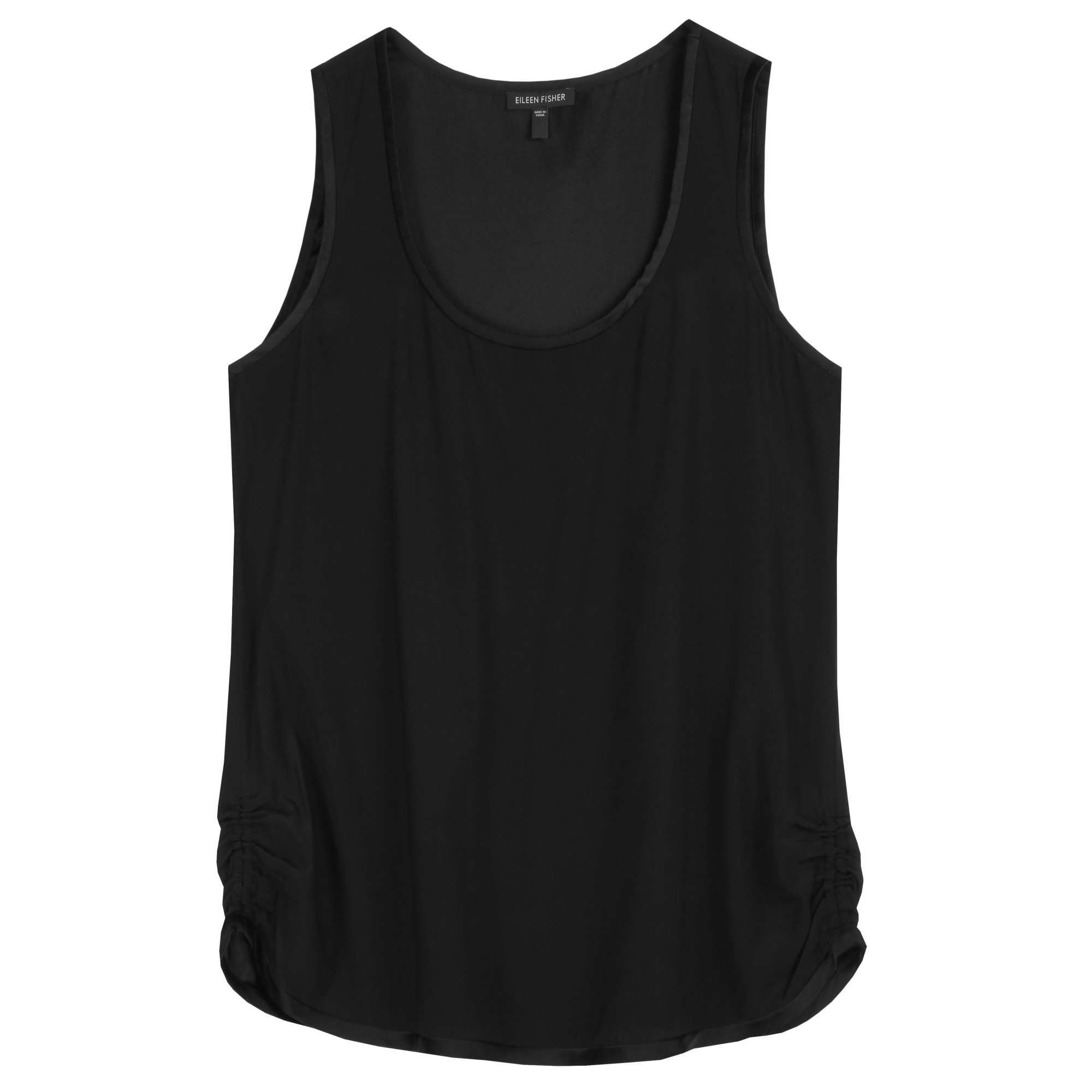 Stretch Silk Charmeuse Tank