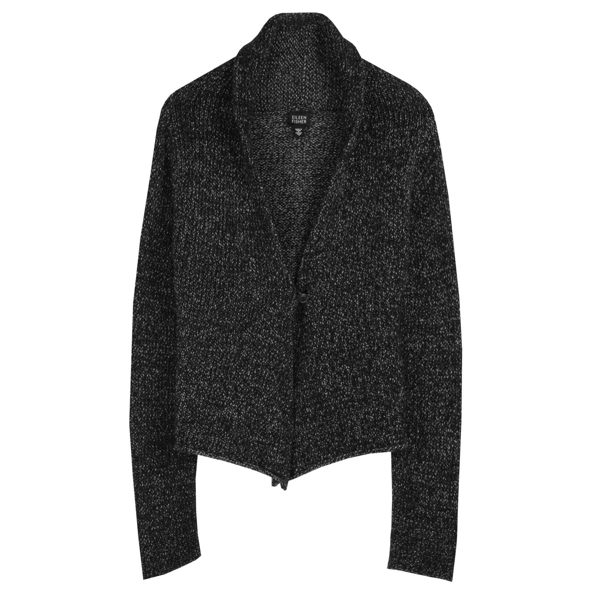 Wool Viscose Chainette Cardigan