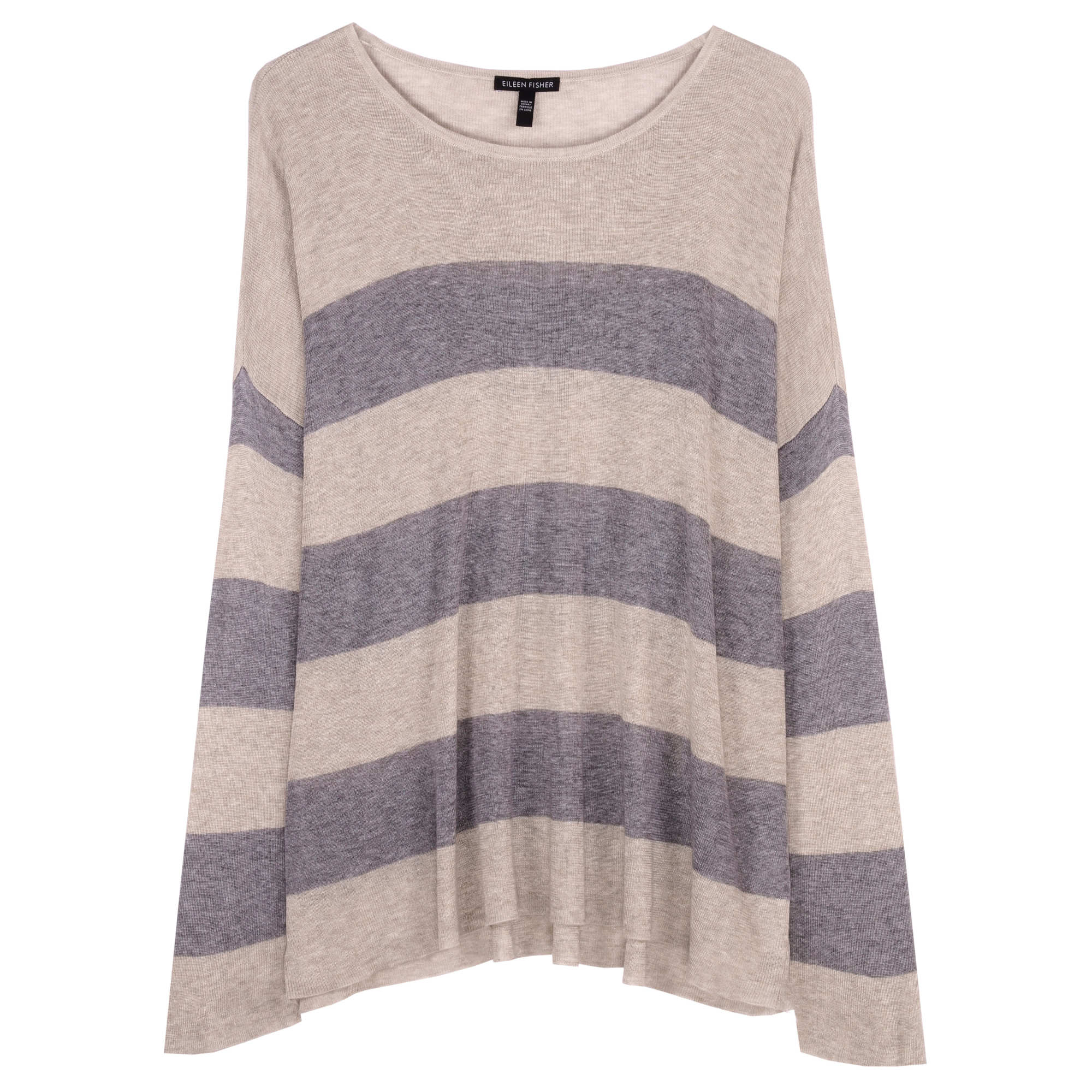 Sleek Tencel Merino Rib Stripe Pullover