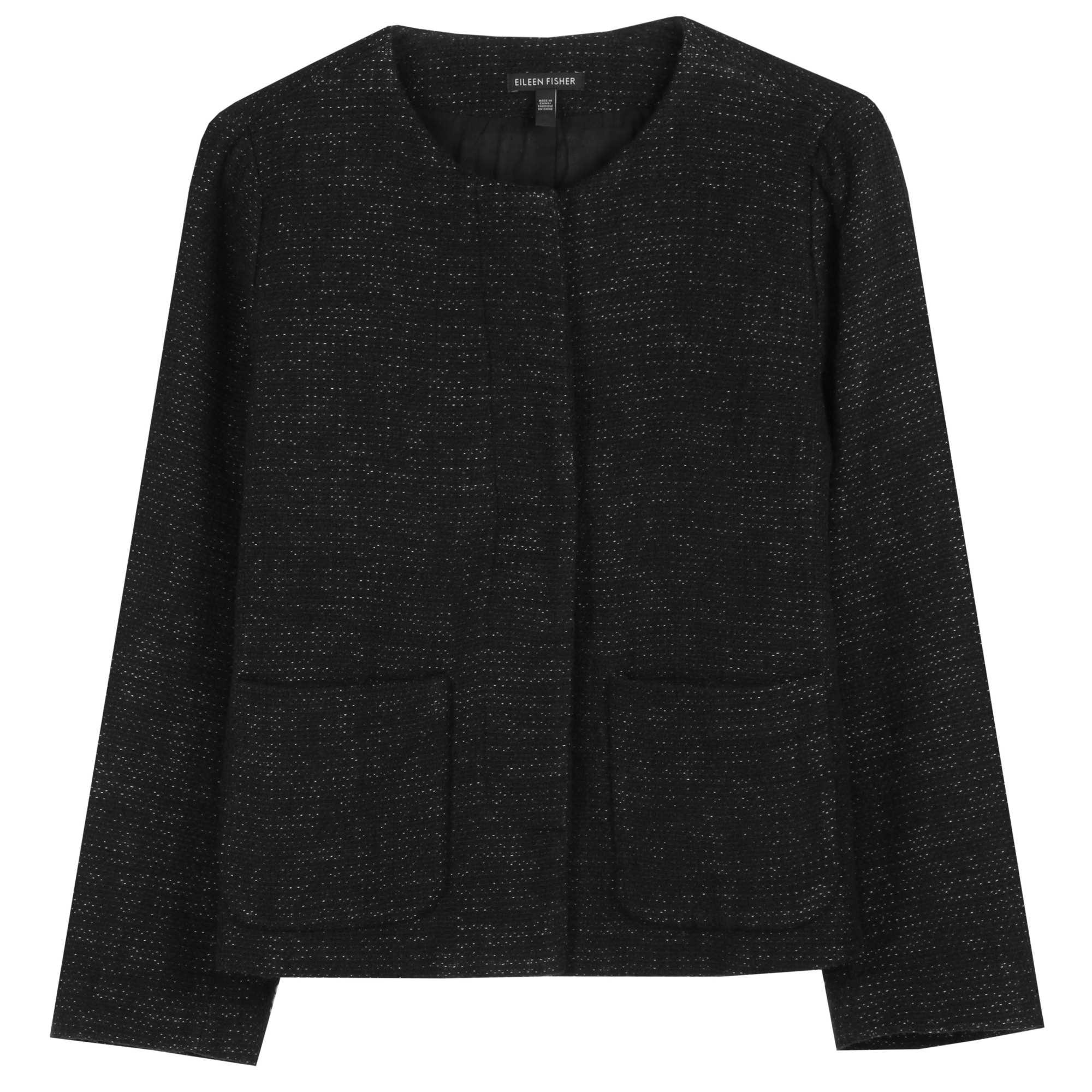 Stitched Cotton Linen Tweed Jacket