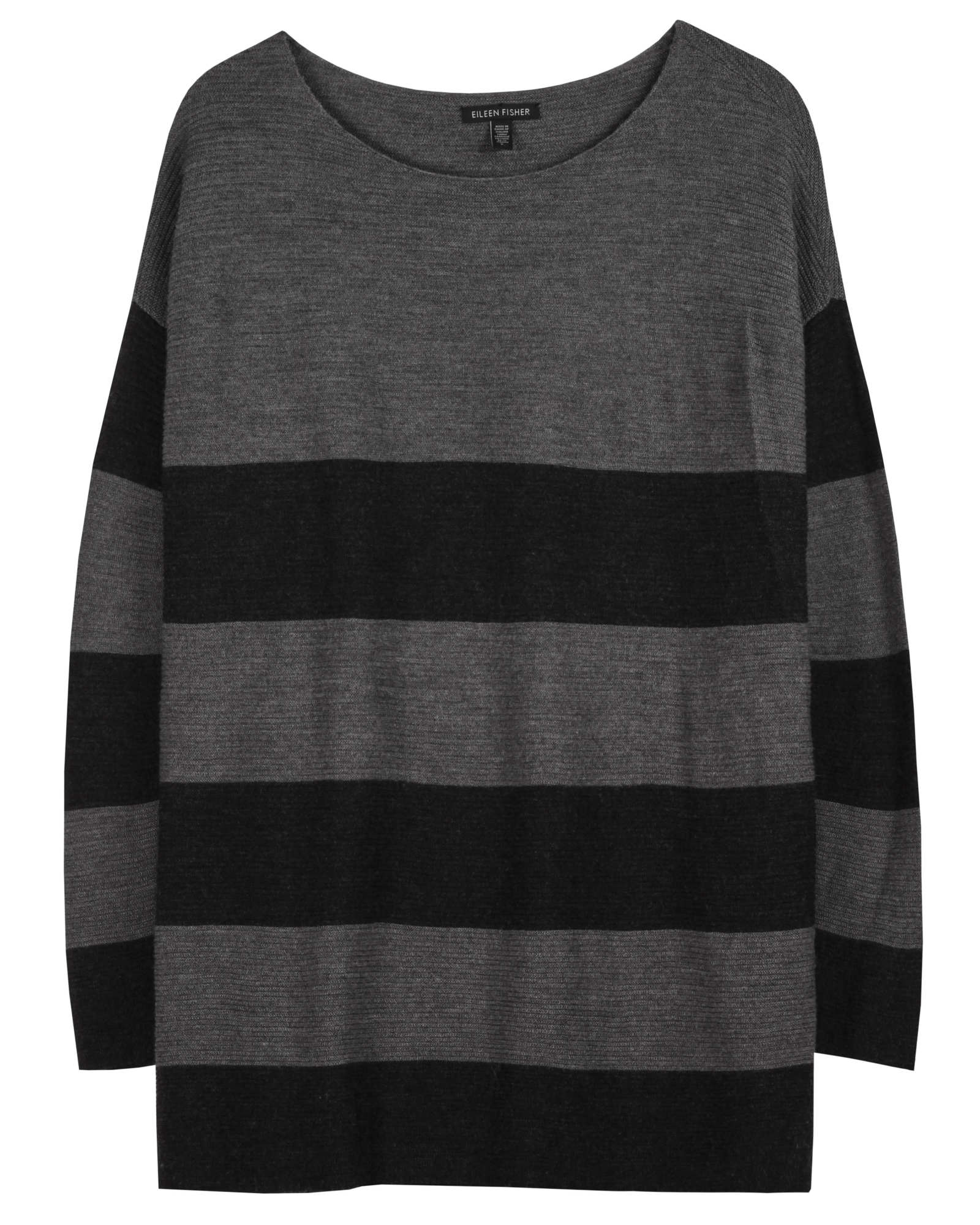 Merino Links Stripe Pullover