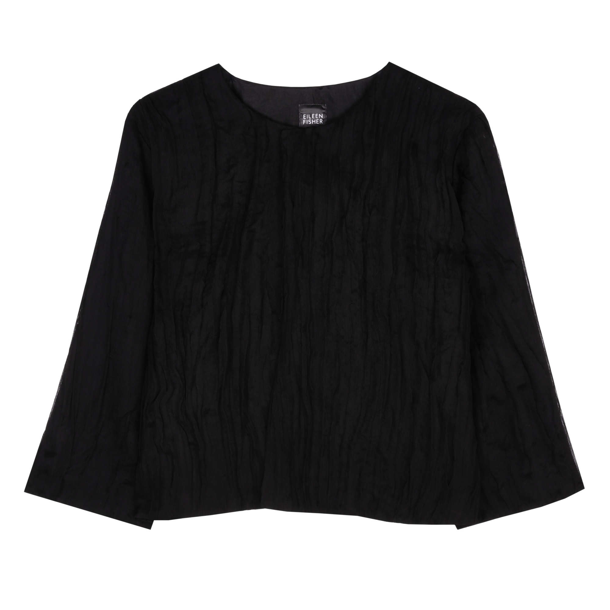 Pleated Crinkle Chiffon Jacket