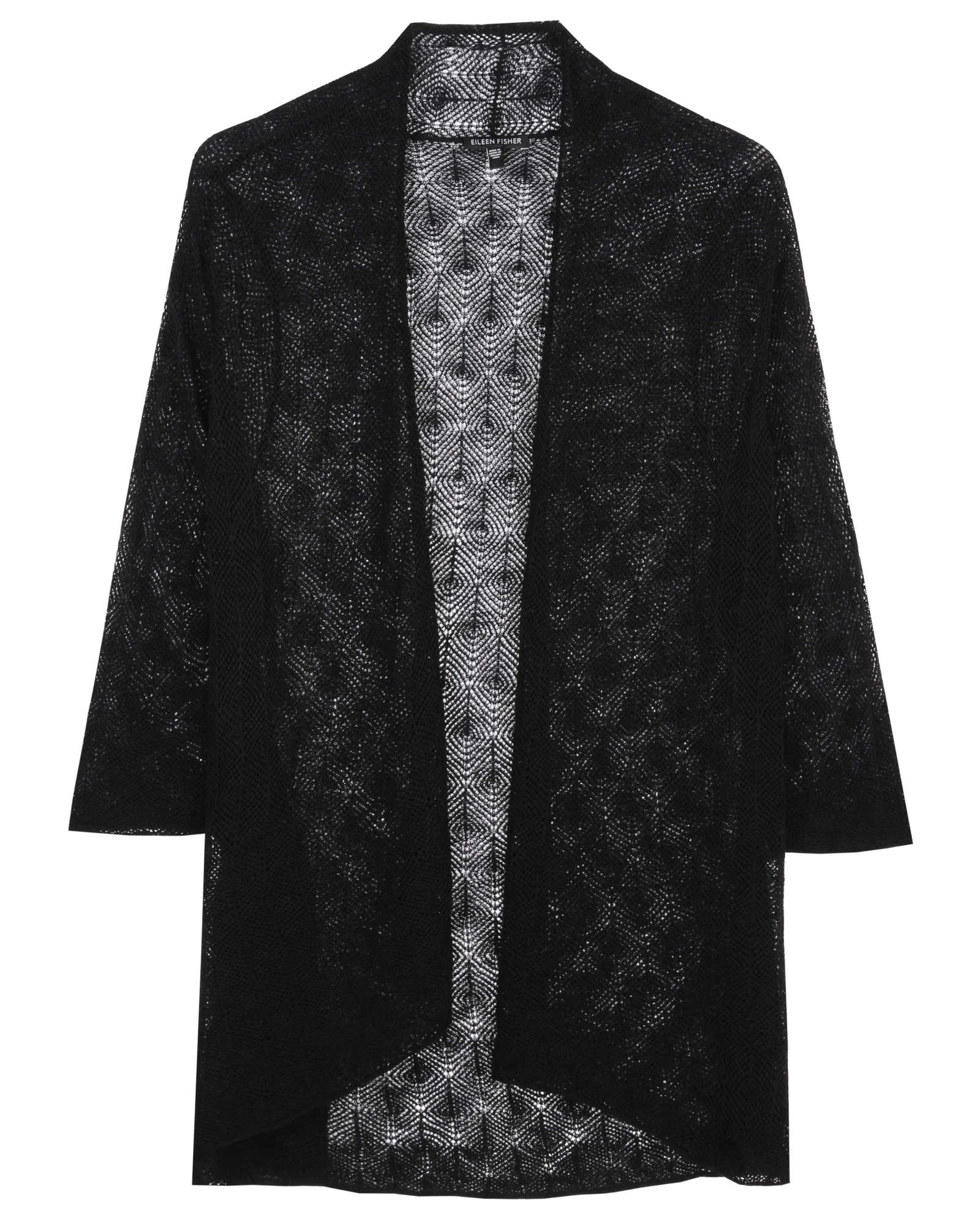 Superfine Washable Wool Diamond Cardigan