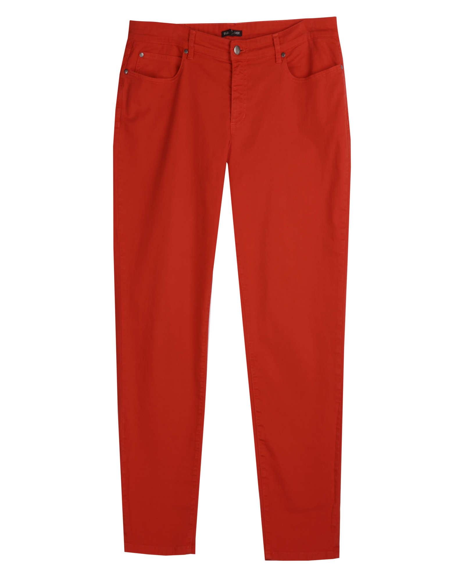 Garment Dyed Organic Cotton Stretch Denim Pant