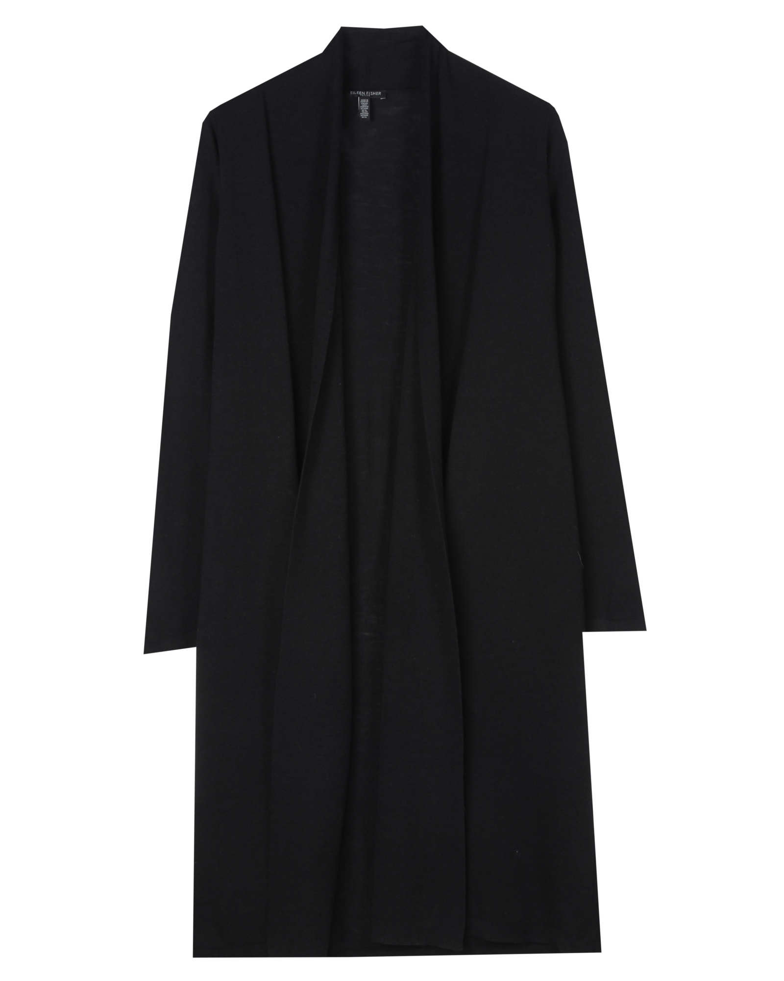 Washable Wool Crepe Jersey Cardigan