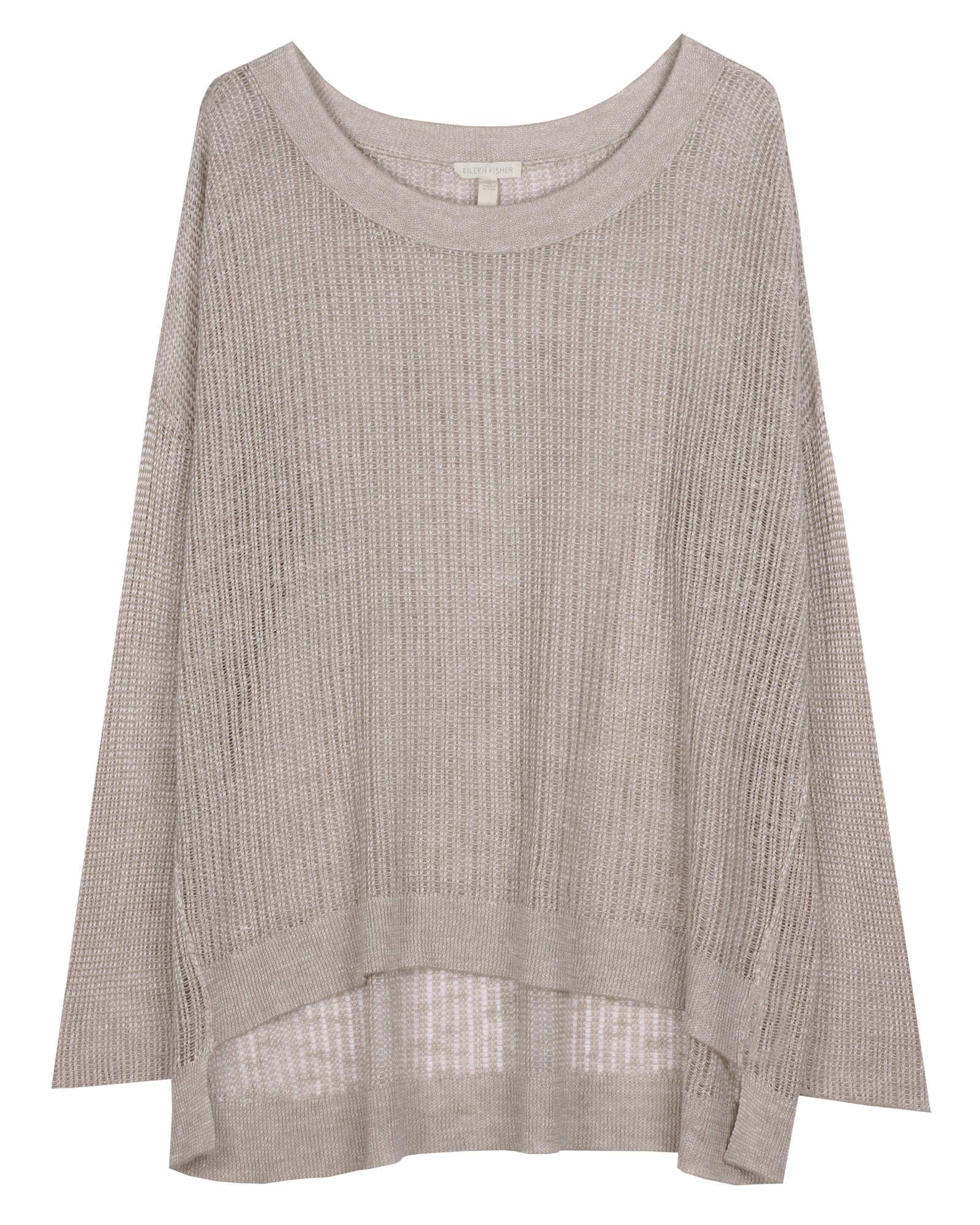 Organic Linen Fine Gauge Texture Pullover