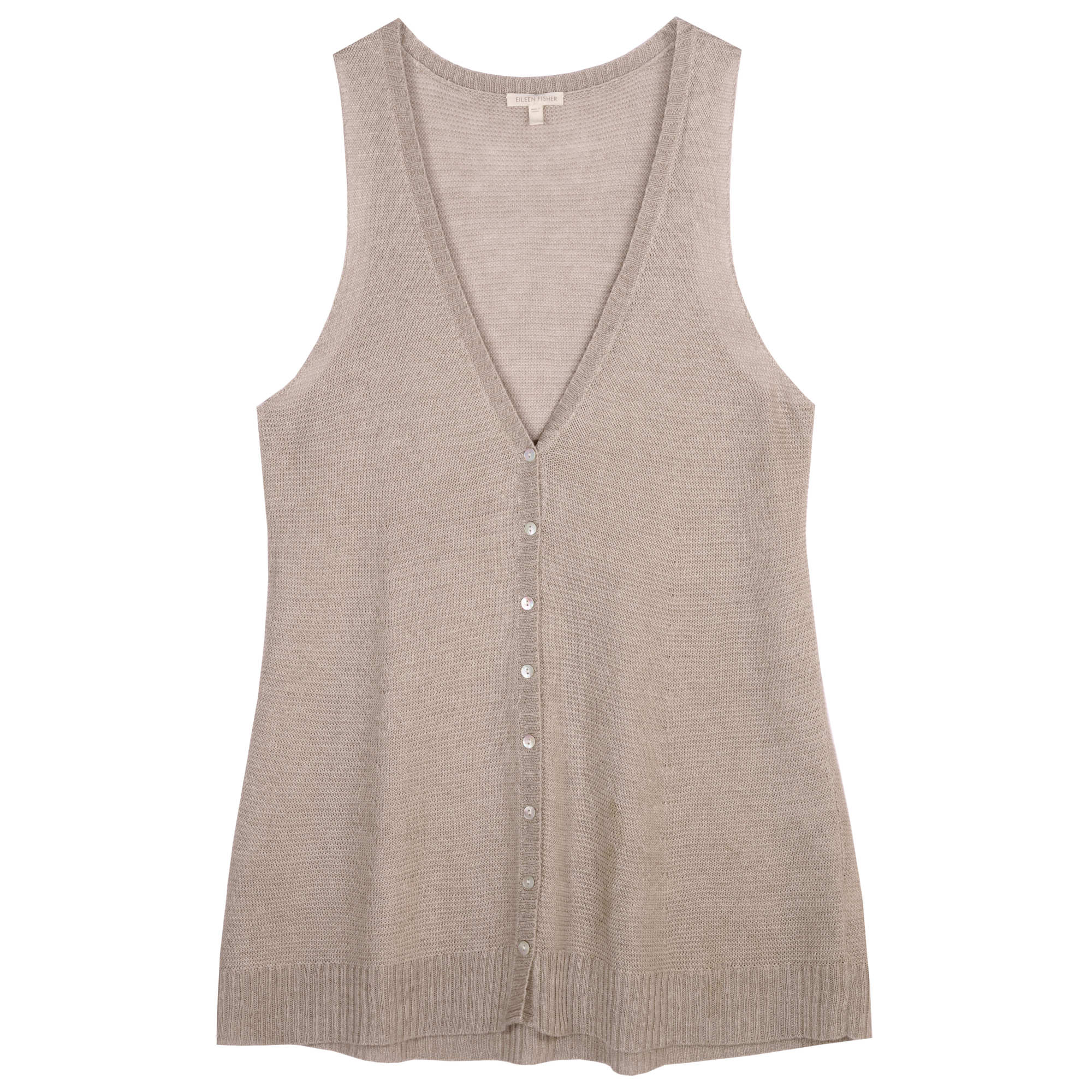 Fine Gauge Linen Links Vest