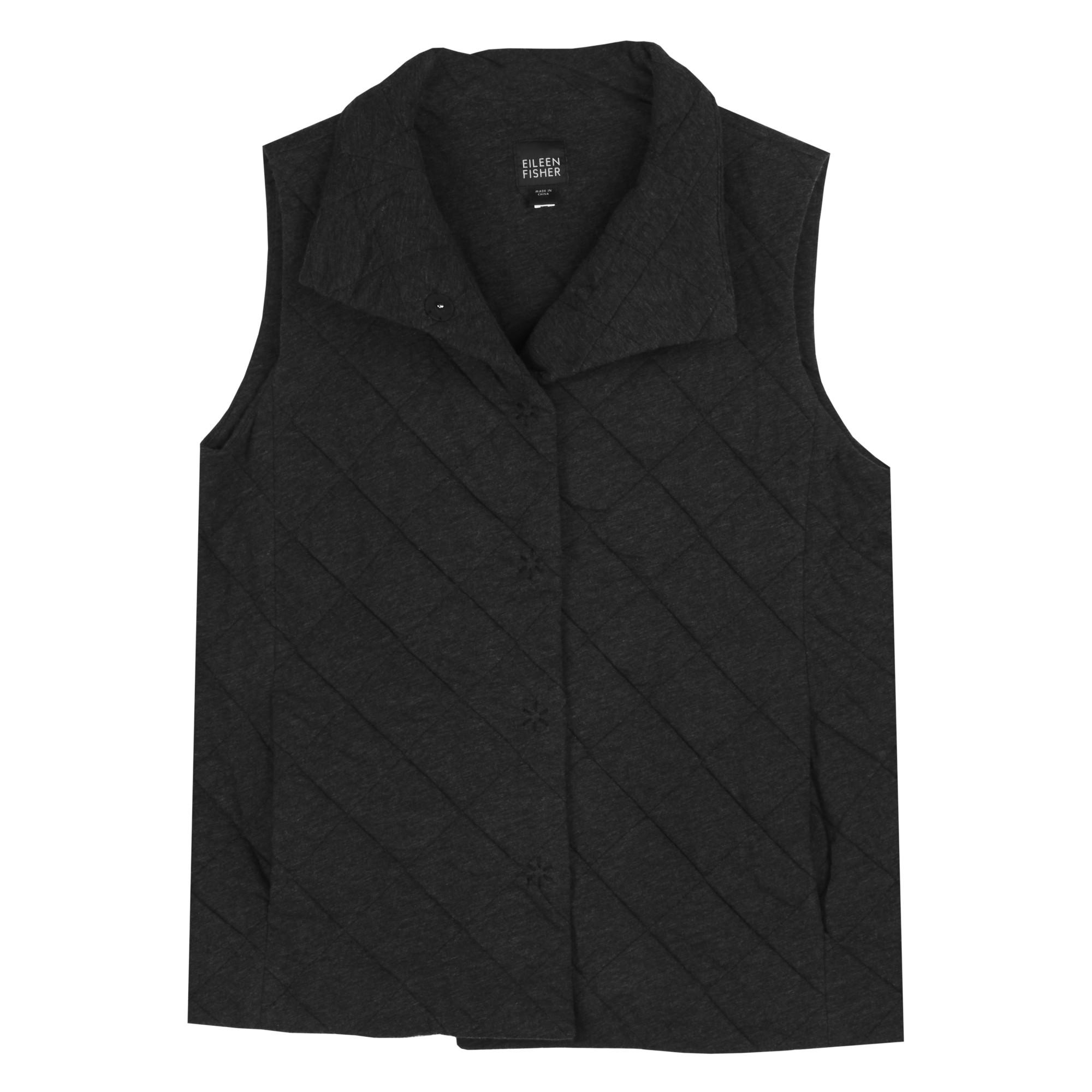 Quilted Cotton Fine Jersey Melange Vest