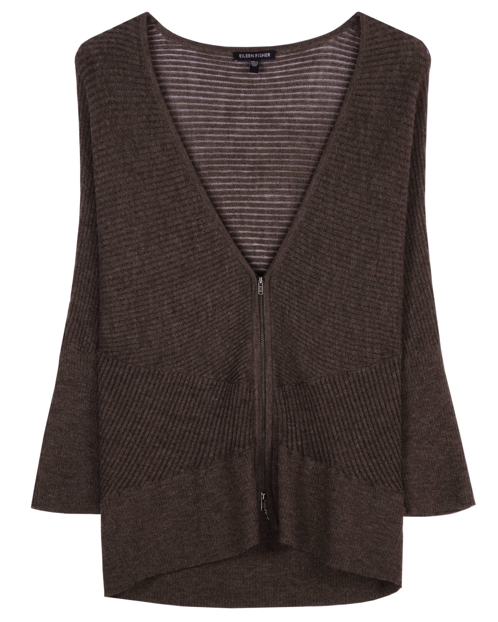 Washable Wool Diagonal Air Cardigan