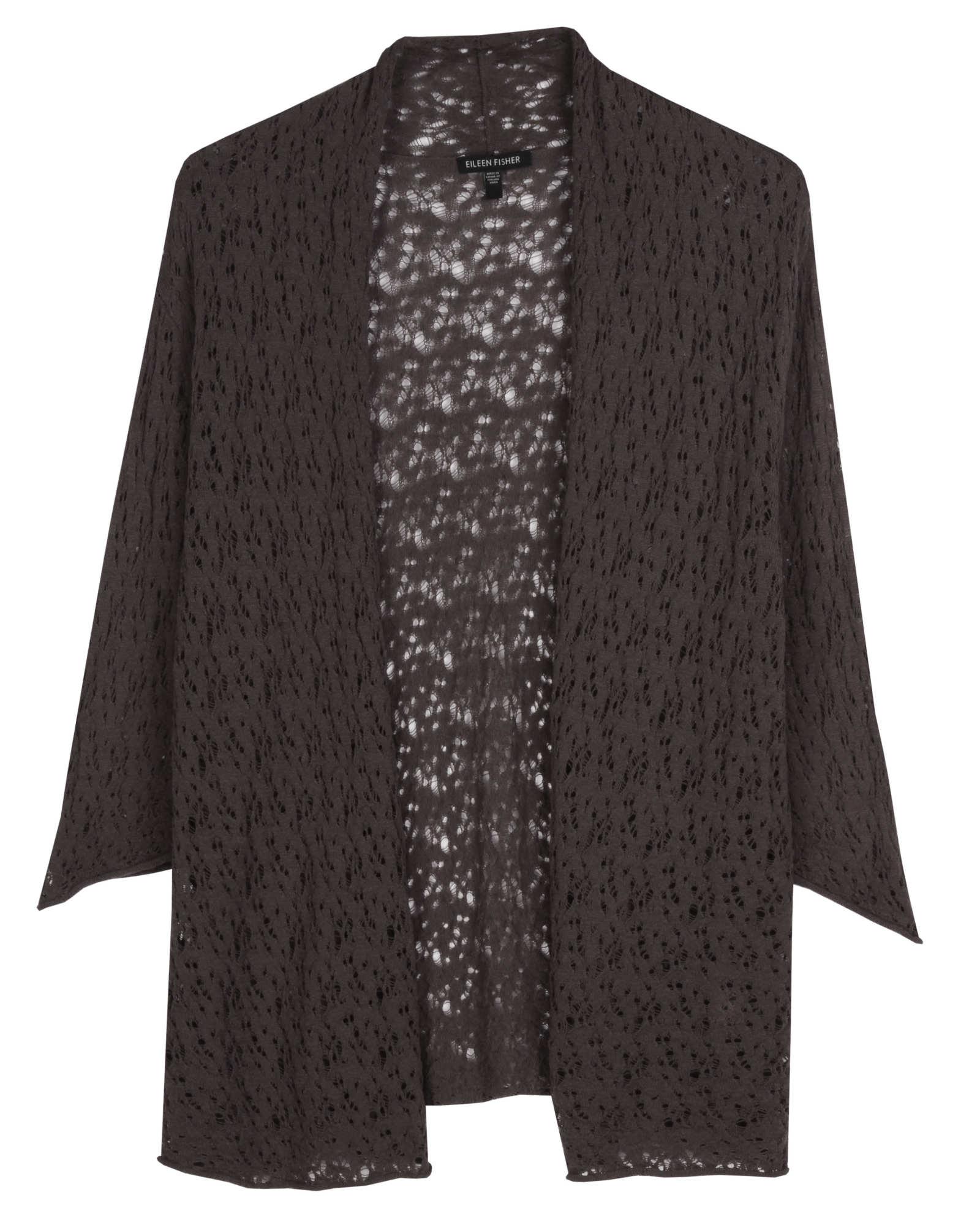 Washable Wool Lace Cardigan