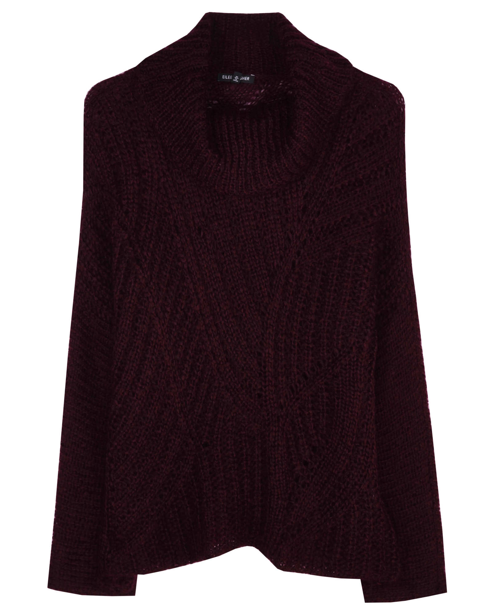 Airy Mohair Variegated Rib Pullover