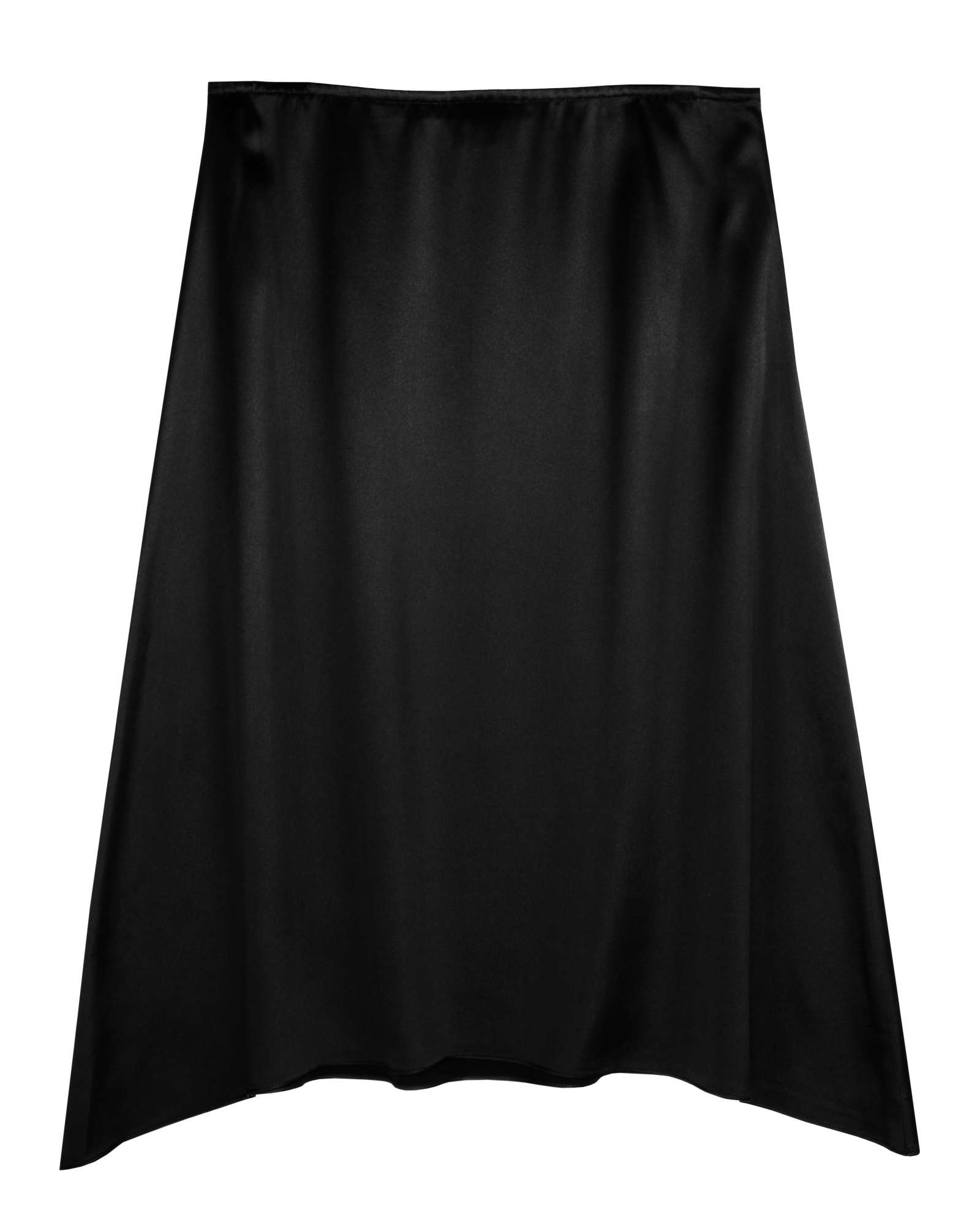 Crepe Back Satin Skirt