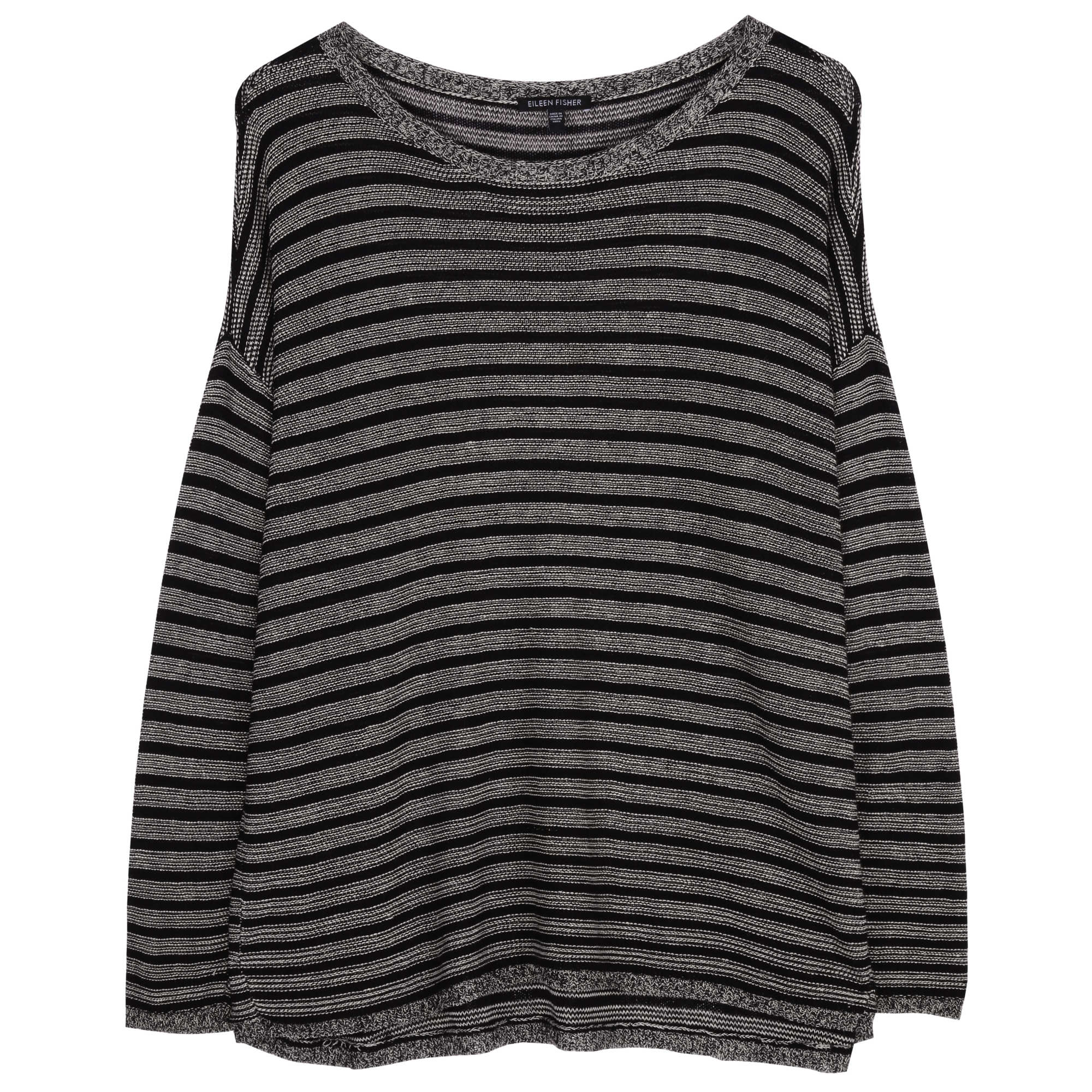 Washable Wool and Linen Stripe Pullover